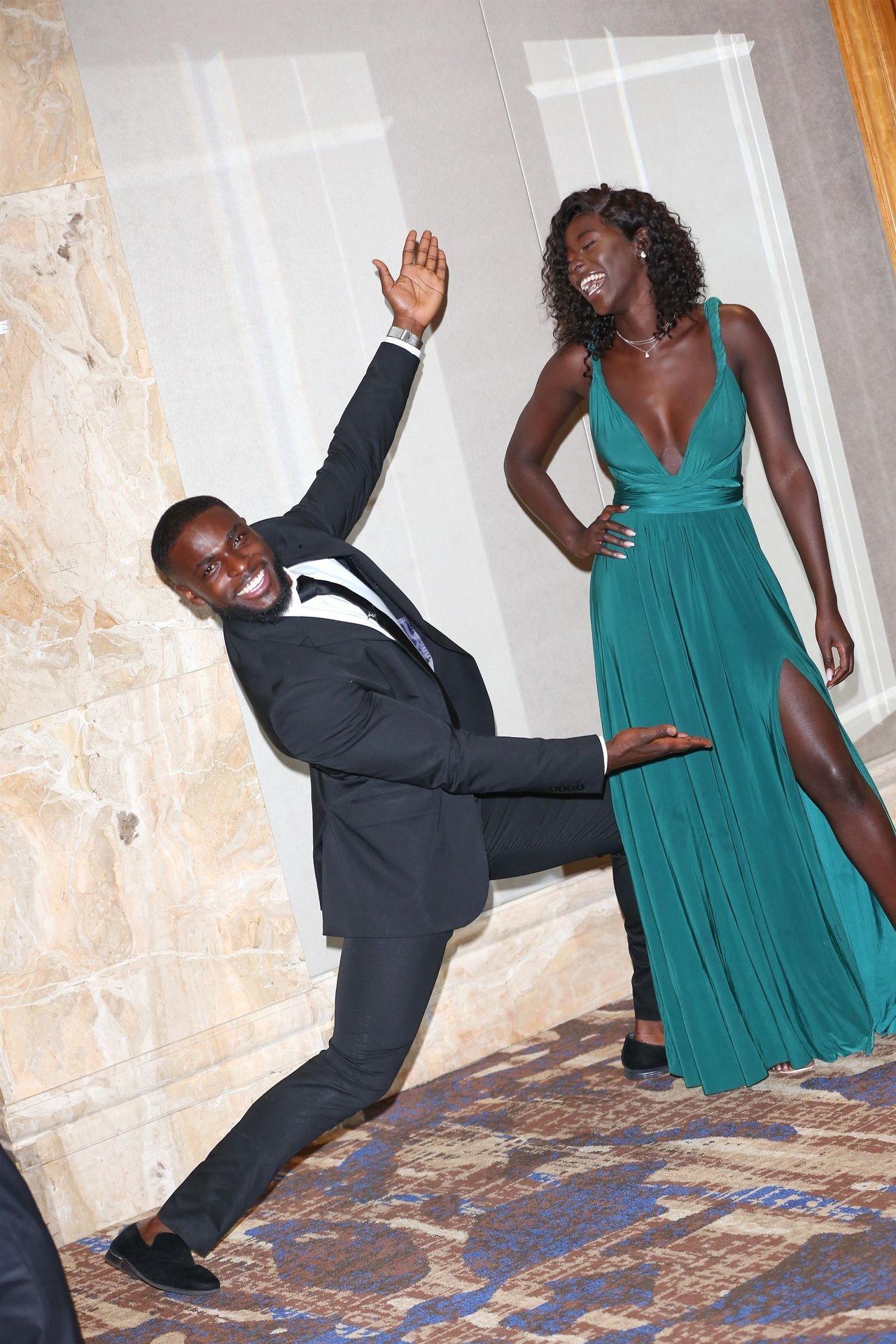 Mike Boateng & Priscilla Anyabu Are Seen At British Ethnic Diversity Sports Awards 0144