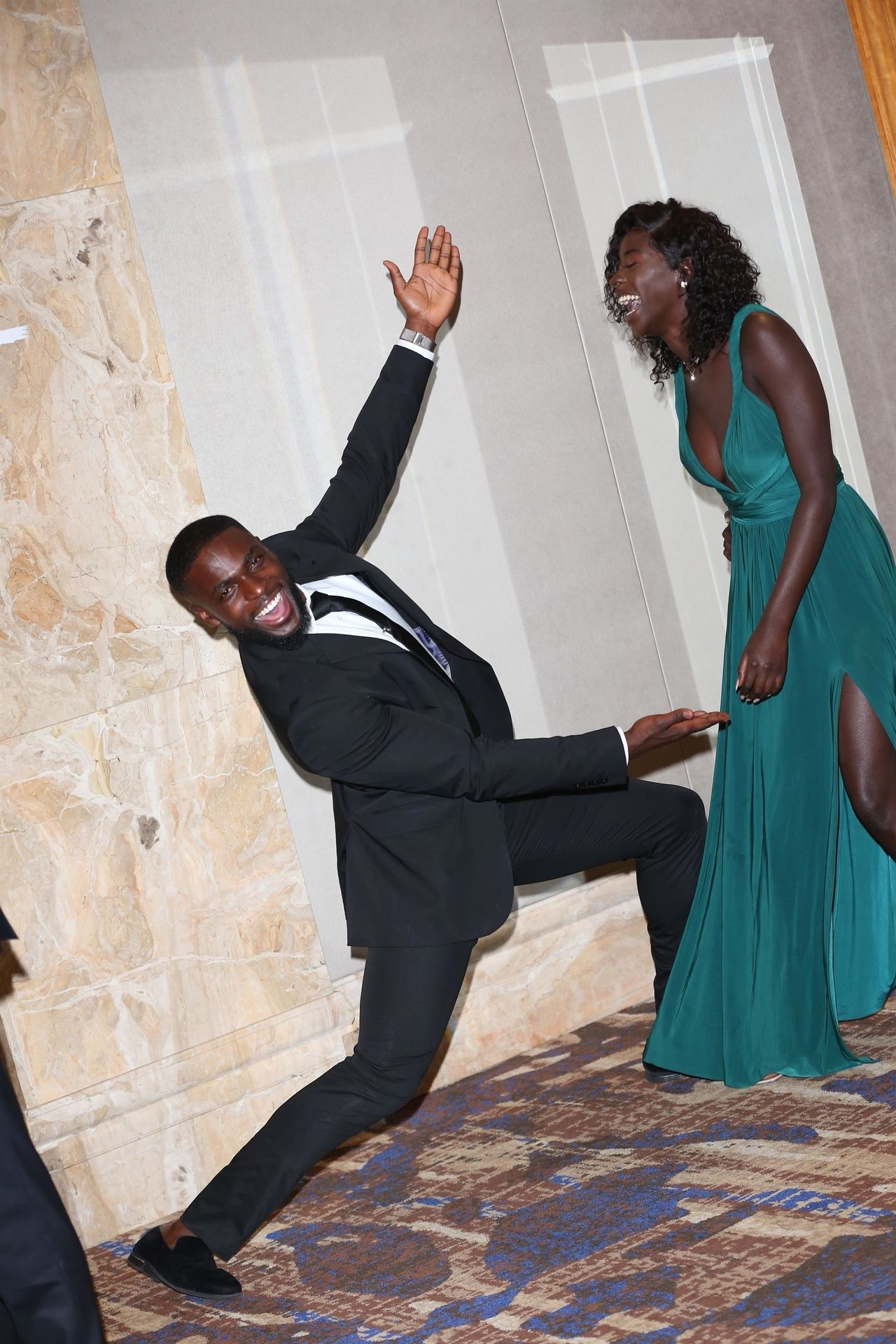 Mike Boateng & Priscilla Anyabu Are Seen At British Ethnic Diversity Sports Awards 0145