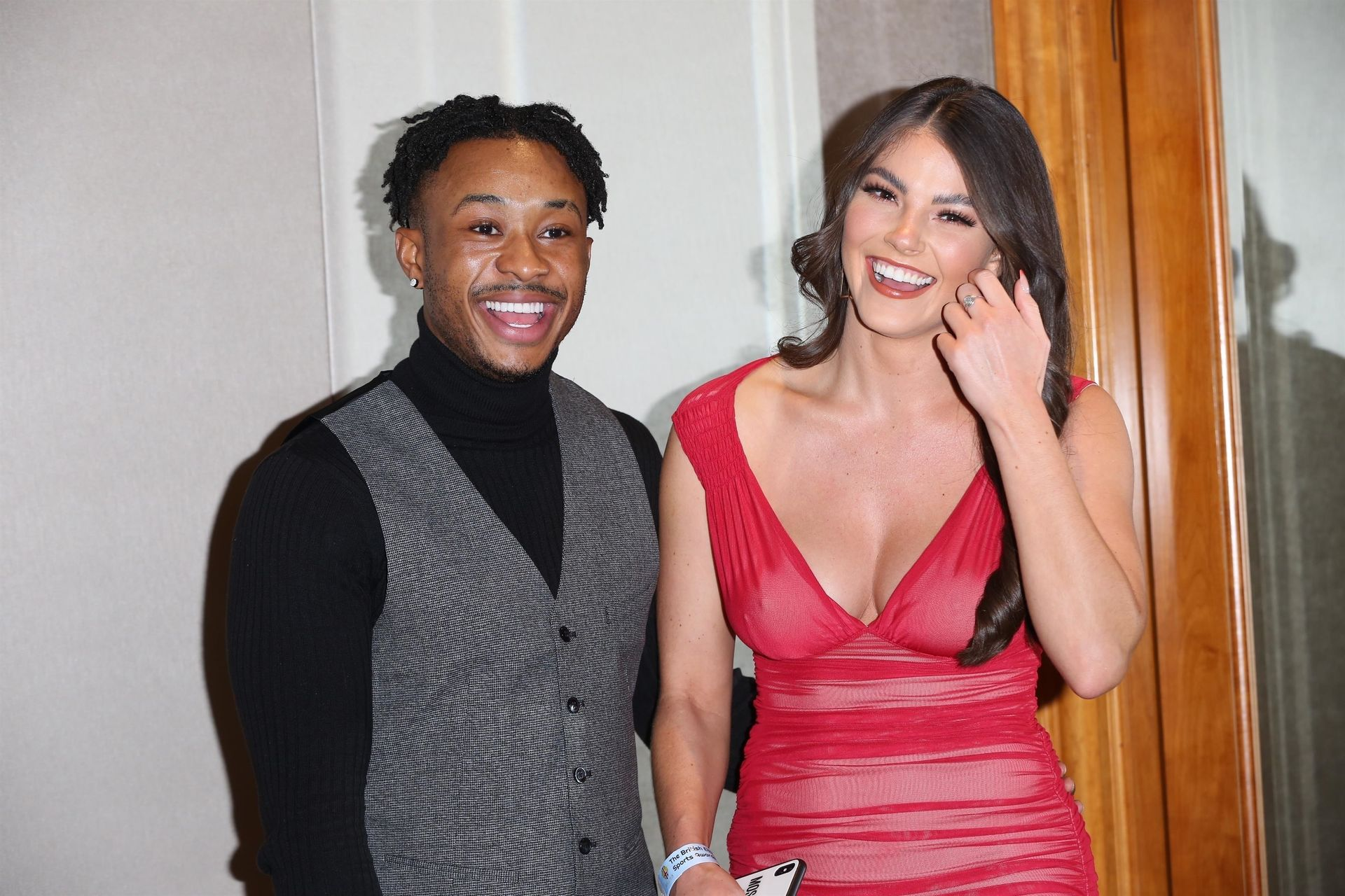 Rebecca Gormley & Biggs Chris Attend British Ethnic Diversity Sports Awards 0013