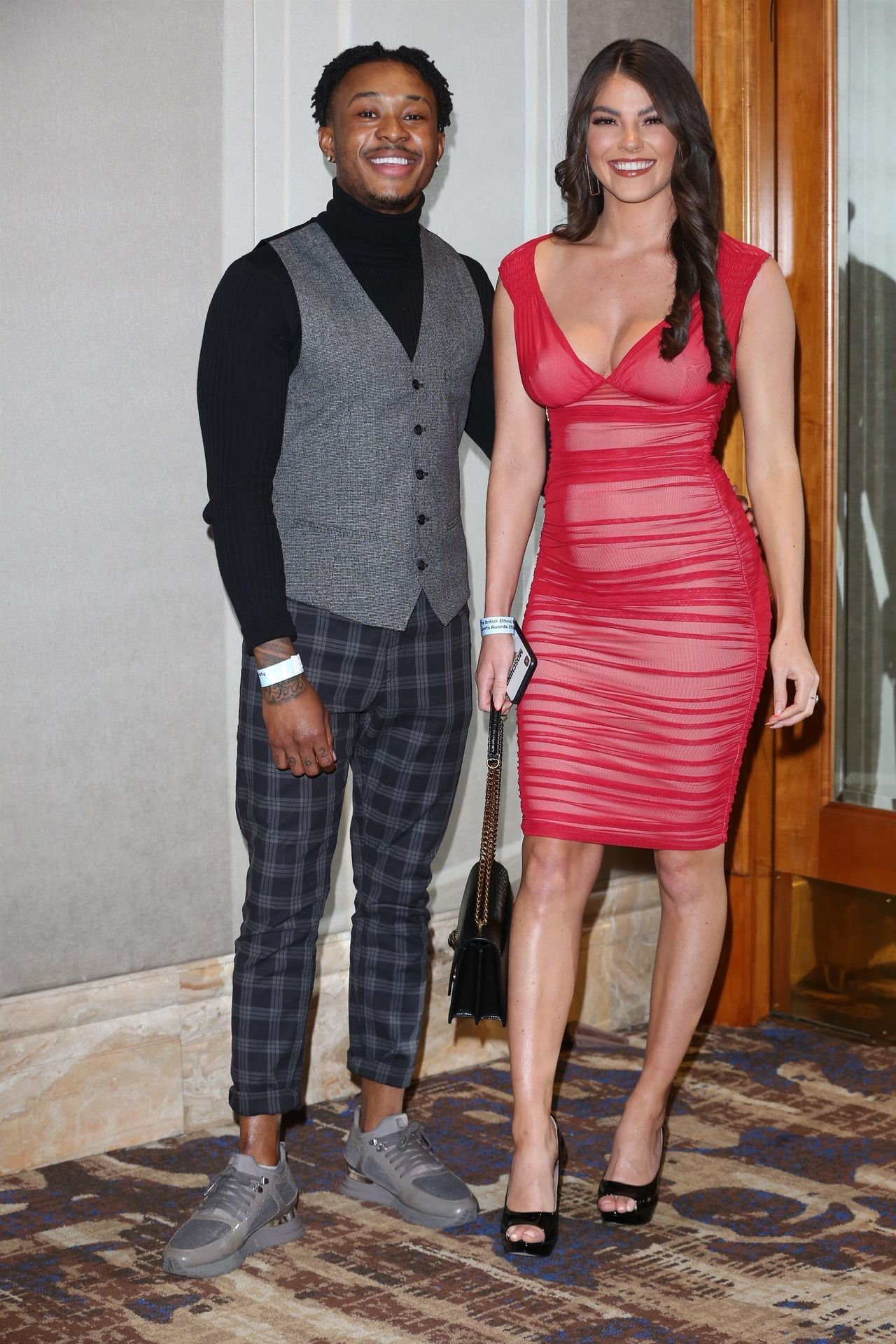 Rebecca Gormley & Biggs Chris Attend British Ethnic Diversity Sports Awards 0021