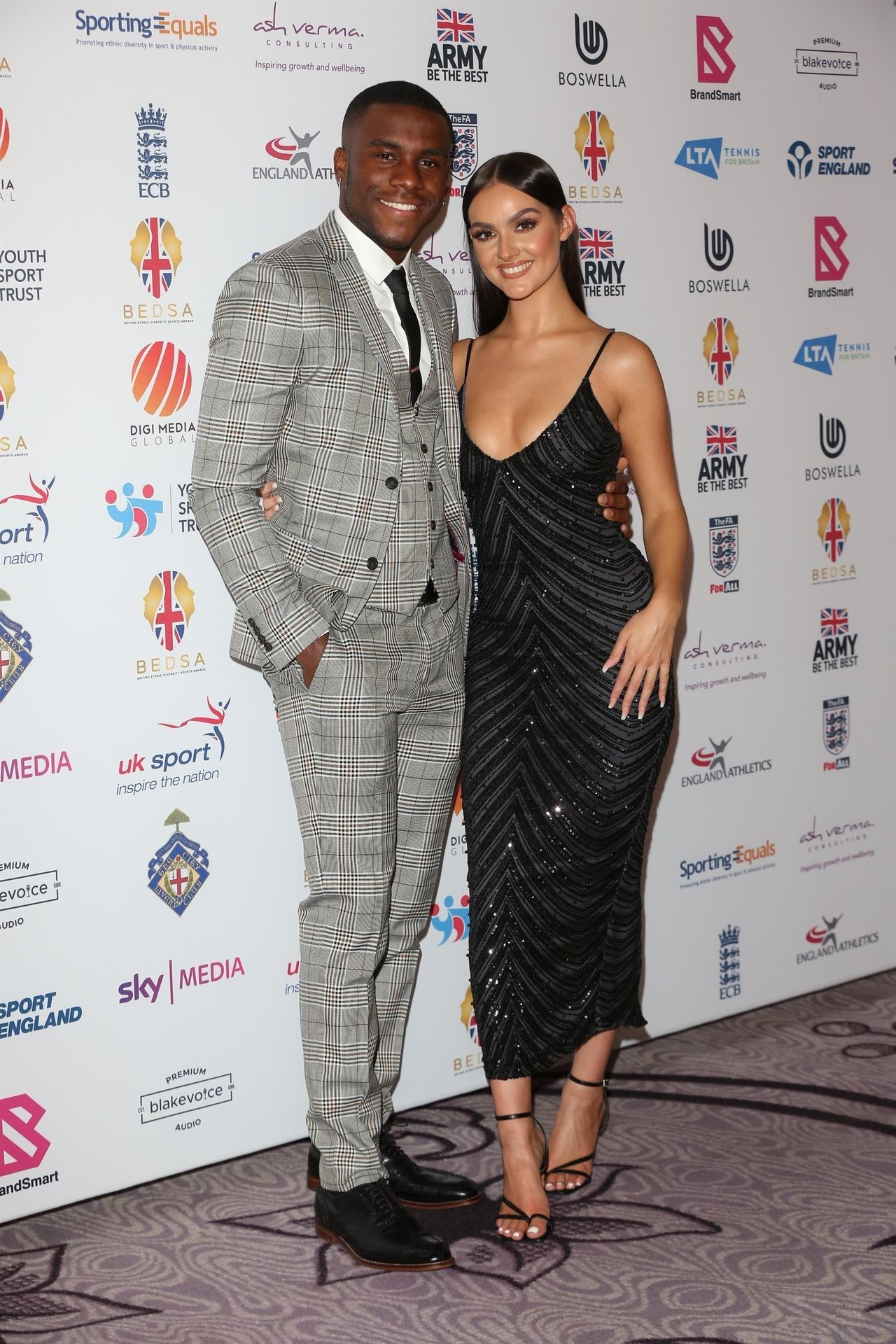 Siannise Fudge & Luke Trotman Are Seen At British Ethnic Diversity Sports Awards 0029