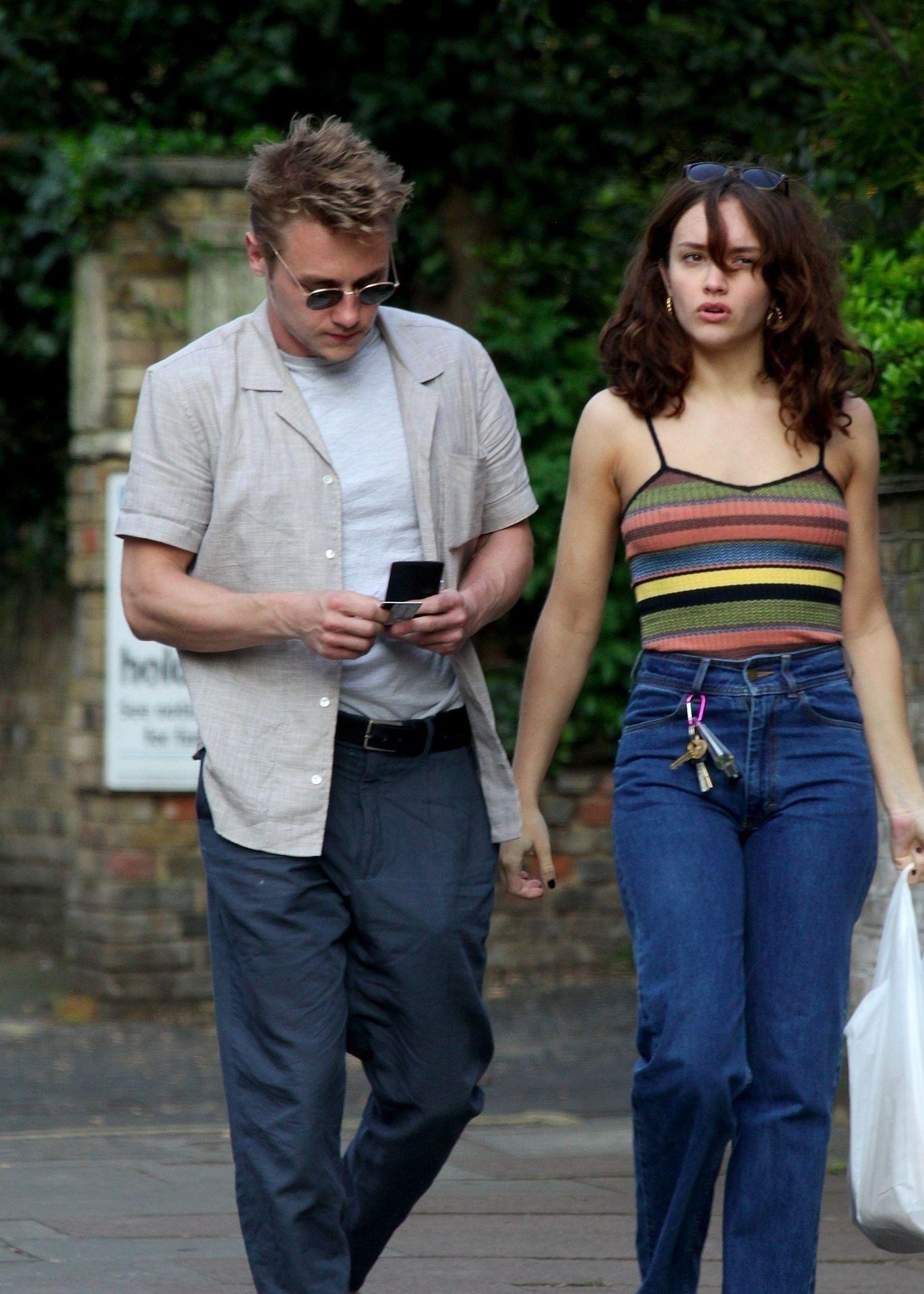 Ben Hardy Walks Hand In Hand With Actress Girlfriend Olivia Cooke 0008