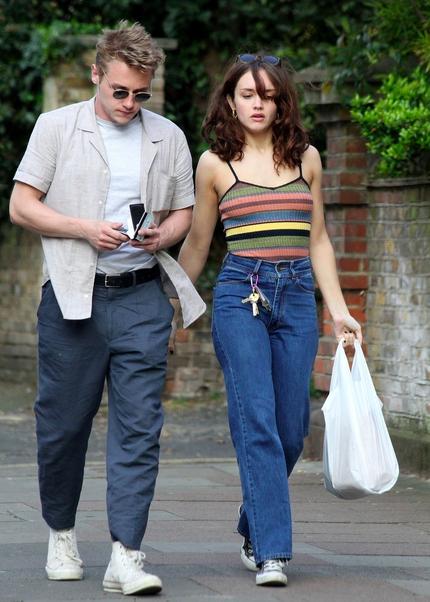 Ben Hardy Walks Hand In Hand With Actress Girlfriend Olivia Cooke 0010