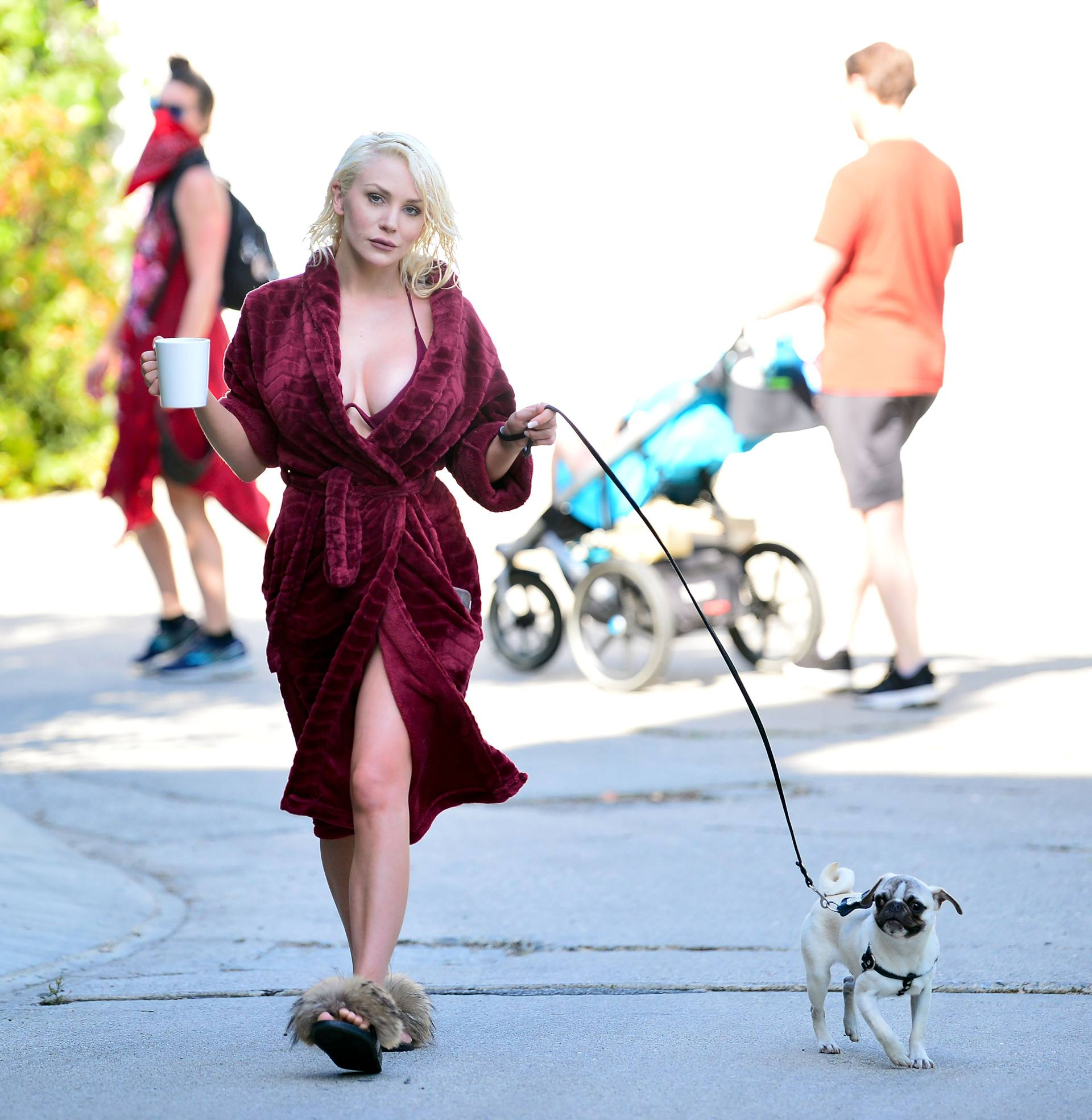Courtney Stodden Sexy Boobs In Risque Robe Out In Los Angeles 0003