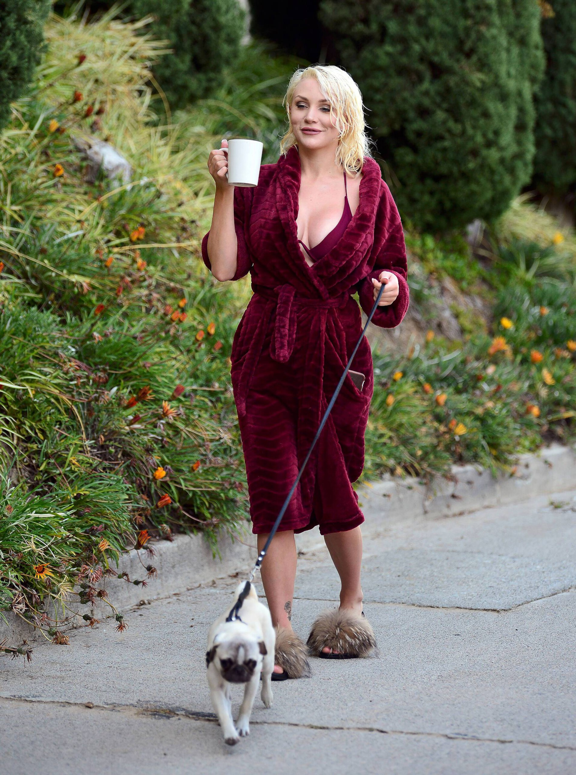 Courtney Stodden Sexy Boobs In Risque Robe Out In Los Angeles 0015