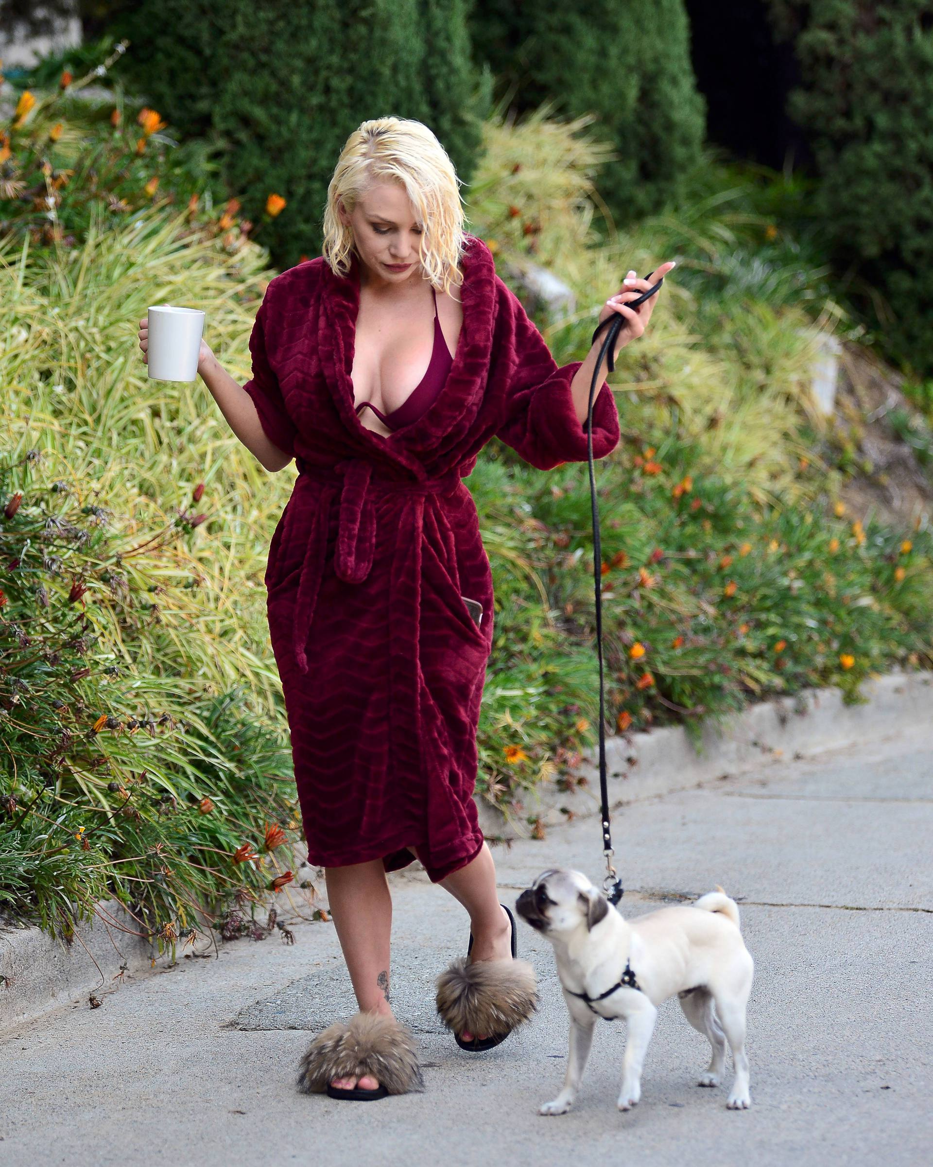 Courtney Stodden Sexy Boobs In Risque Robe Out In Los Angeles 0019