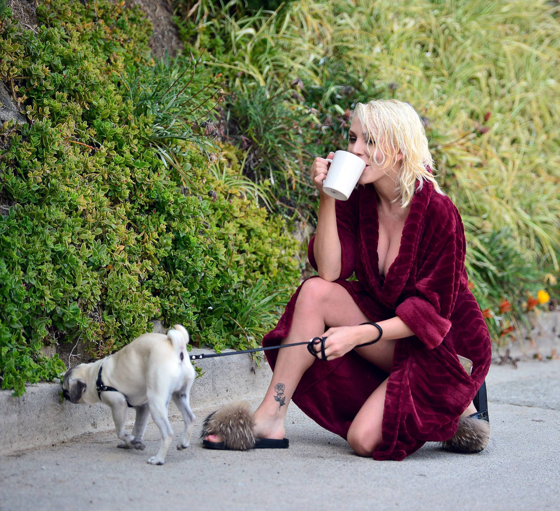 Courtney Stodden Sexy Boobs In Risque Robe Out In Los Angeles 0023