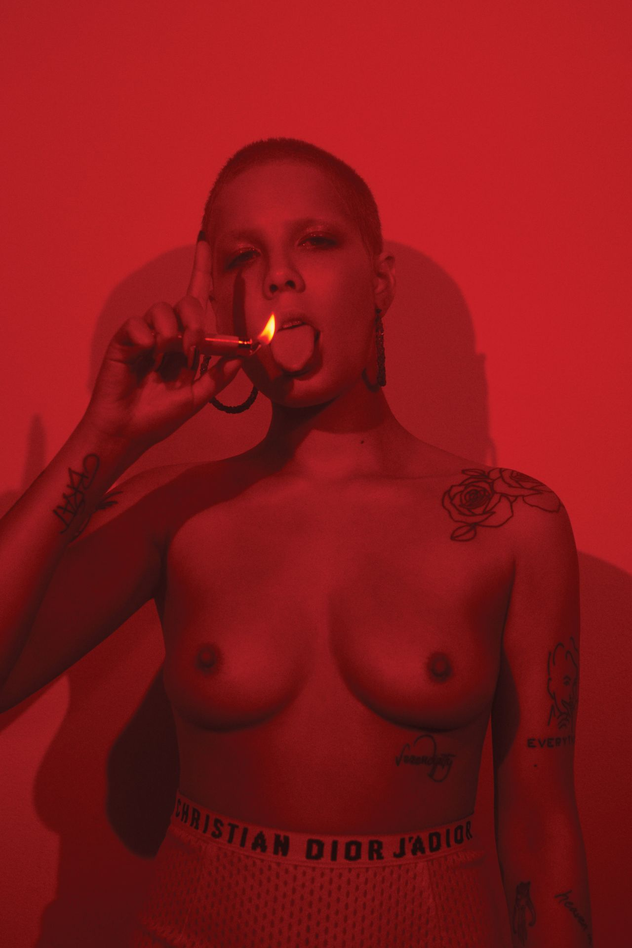 Halsey Topless 0008