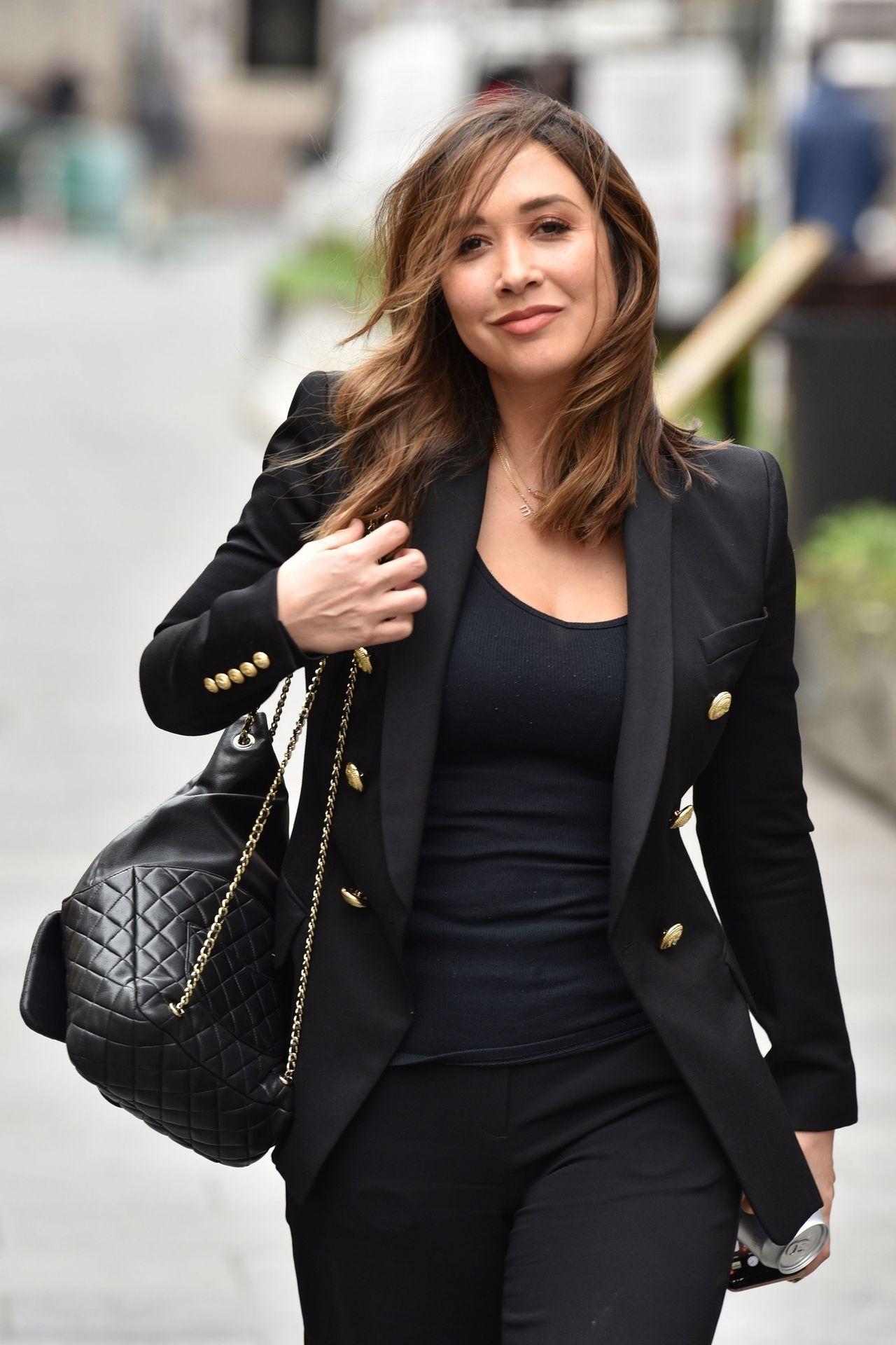 Myleene Klass Looks Hot In All Black In London 0001