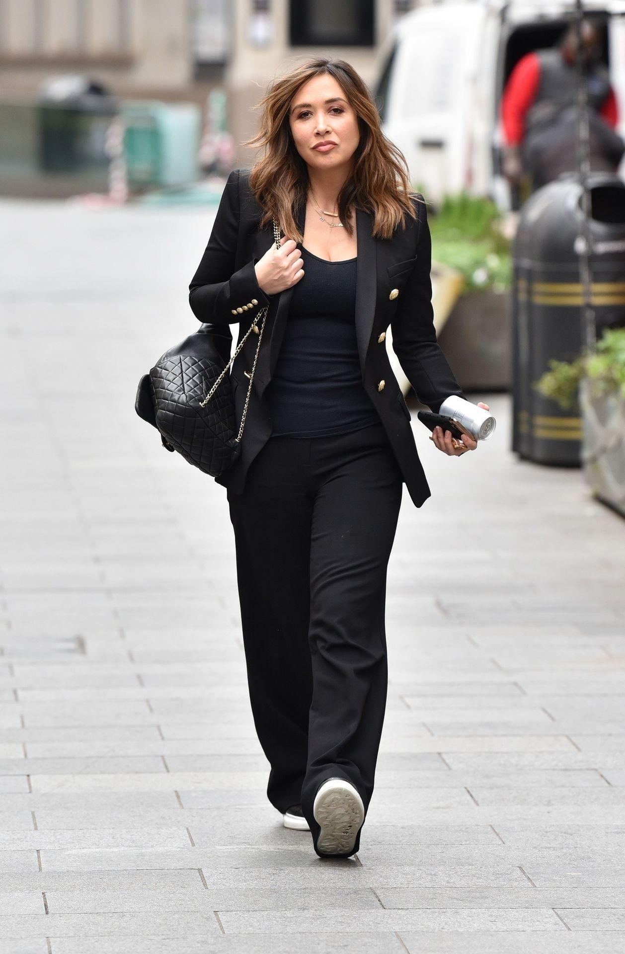 Myleene Klass Looks Hot In All Black In London 0002