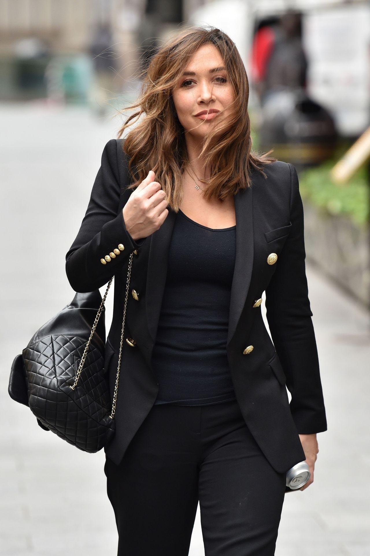Myleene Klass Looks Hot In All Black In London 0003