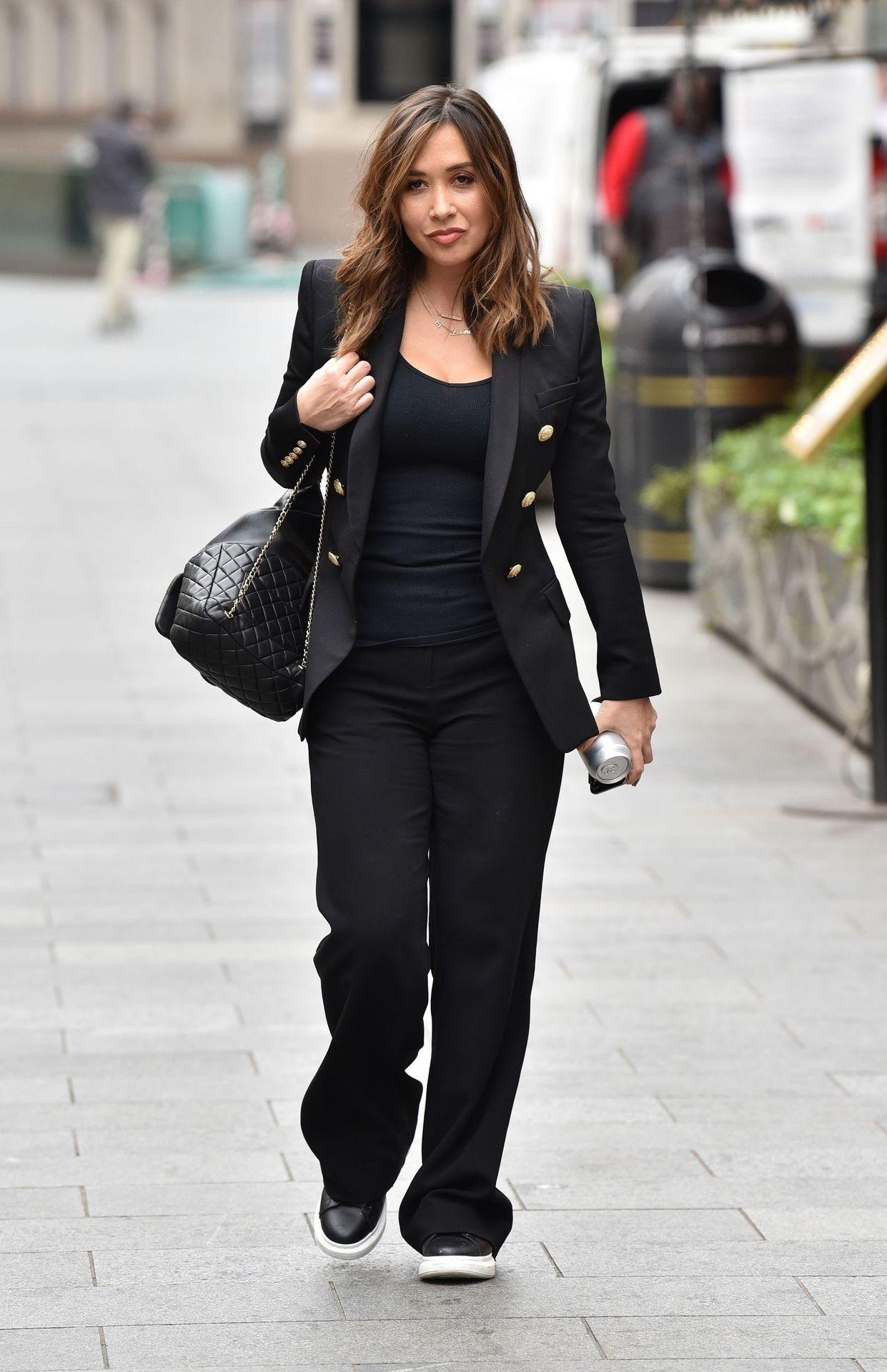 Myleene Klass Looks Hot In All Black In London 0004