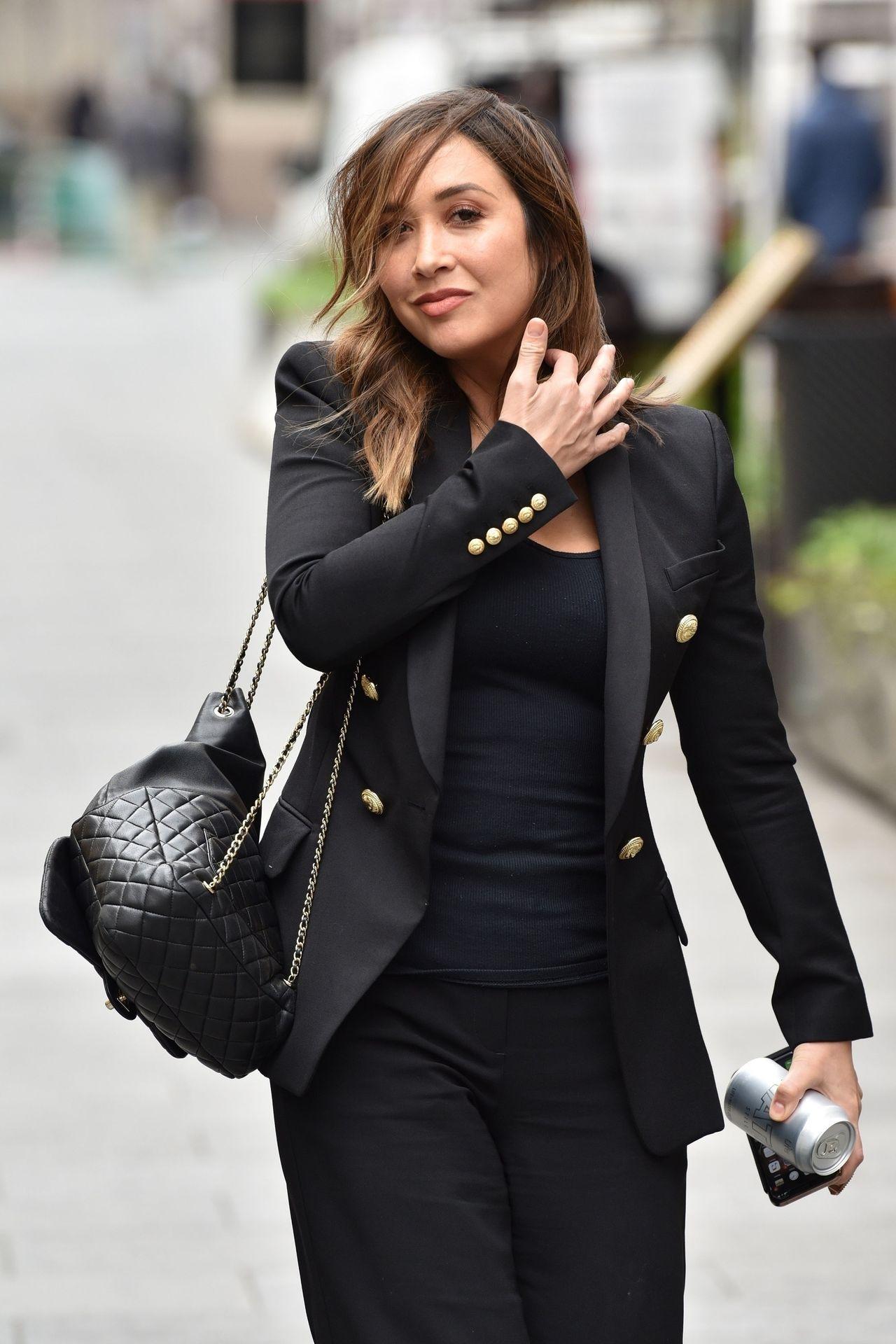 Myleene Klass Looks Hot In All Black In London 0005