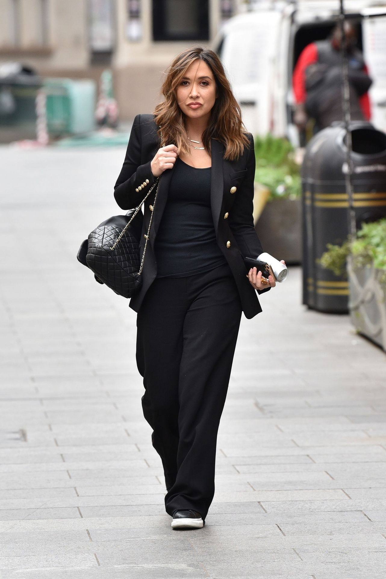 Myleene Klass Looks Hot In All Black In London 0006