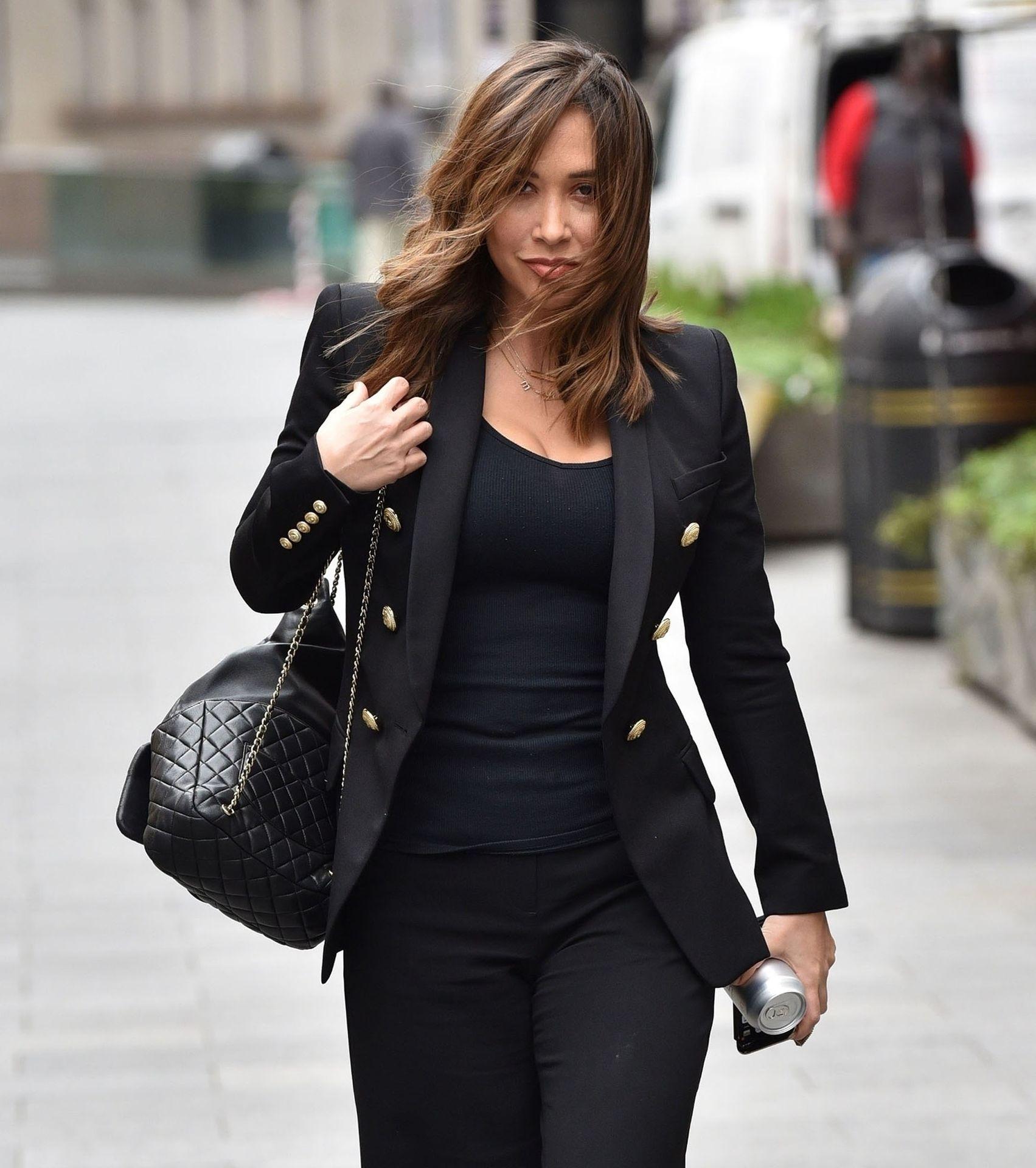 Myleene Klass Looks Hot In All Black In London 0007
