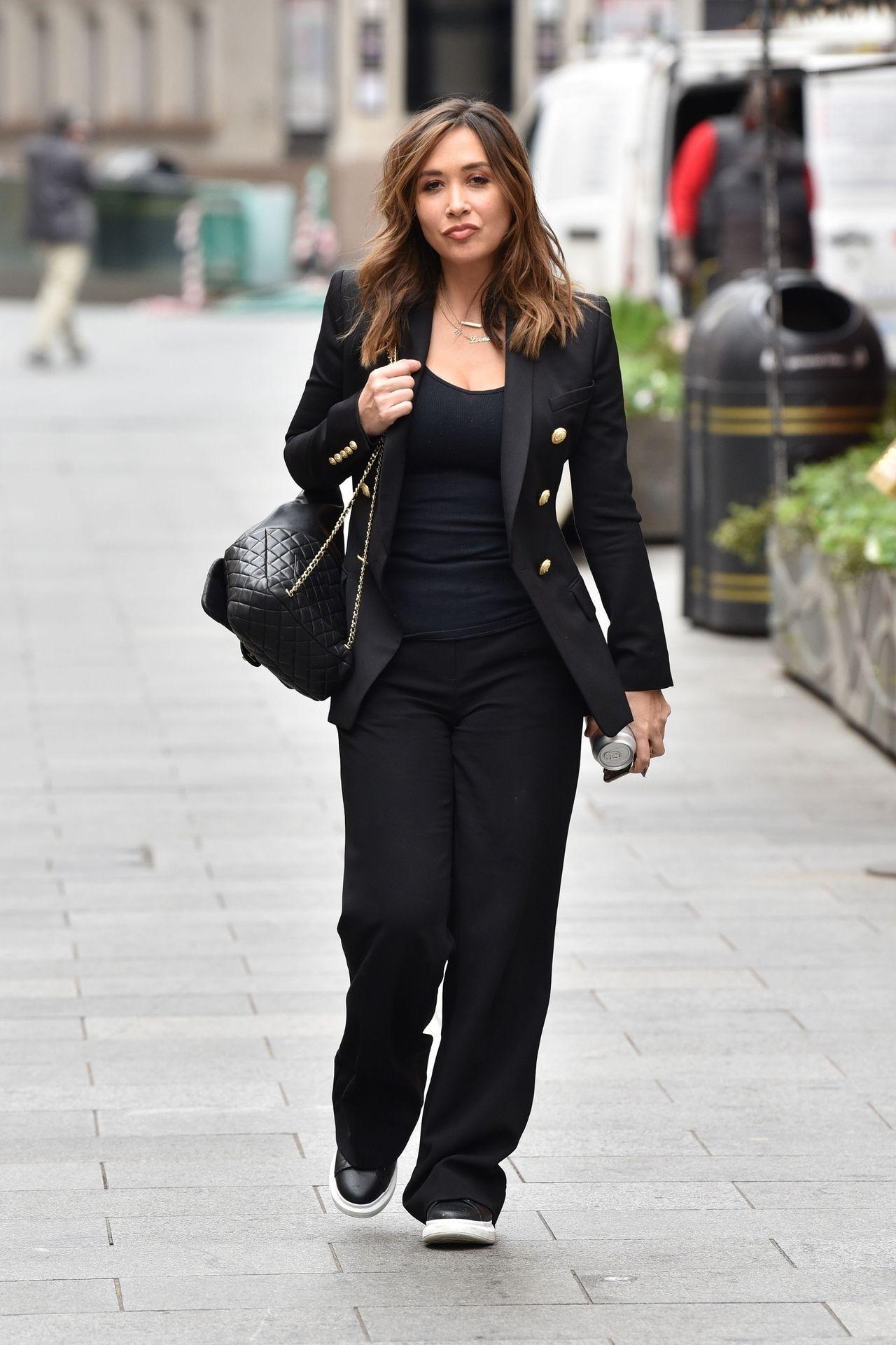 Myleene Klass Looks Hot In All Black In London 0008
