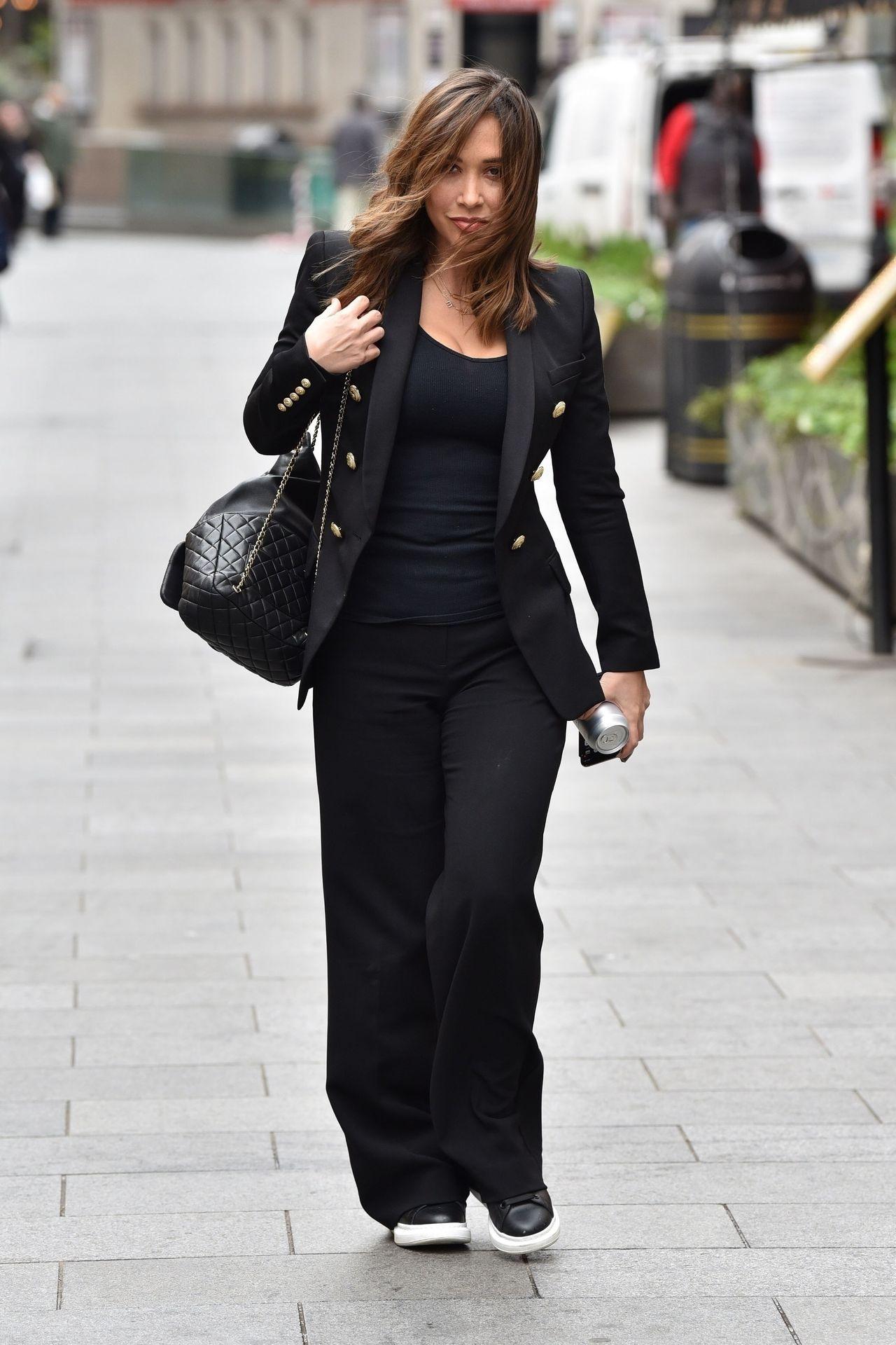 Myleene Klass Looks Hot In All Black In London 0010