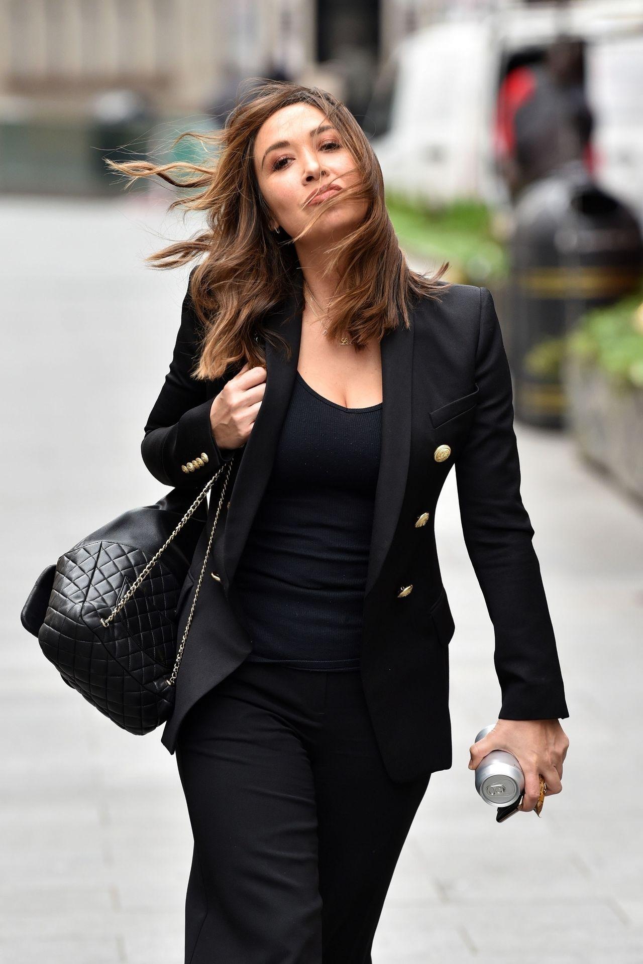 Myleene Klass Looks Hot In All Black In London 0011