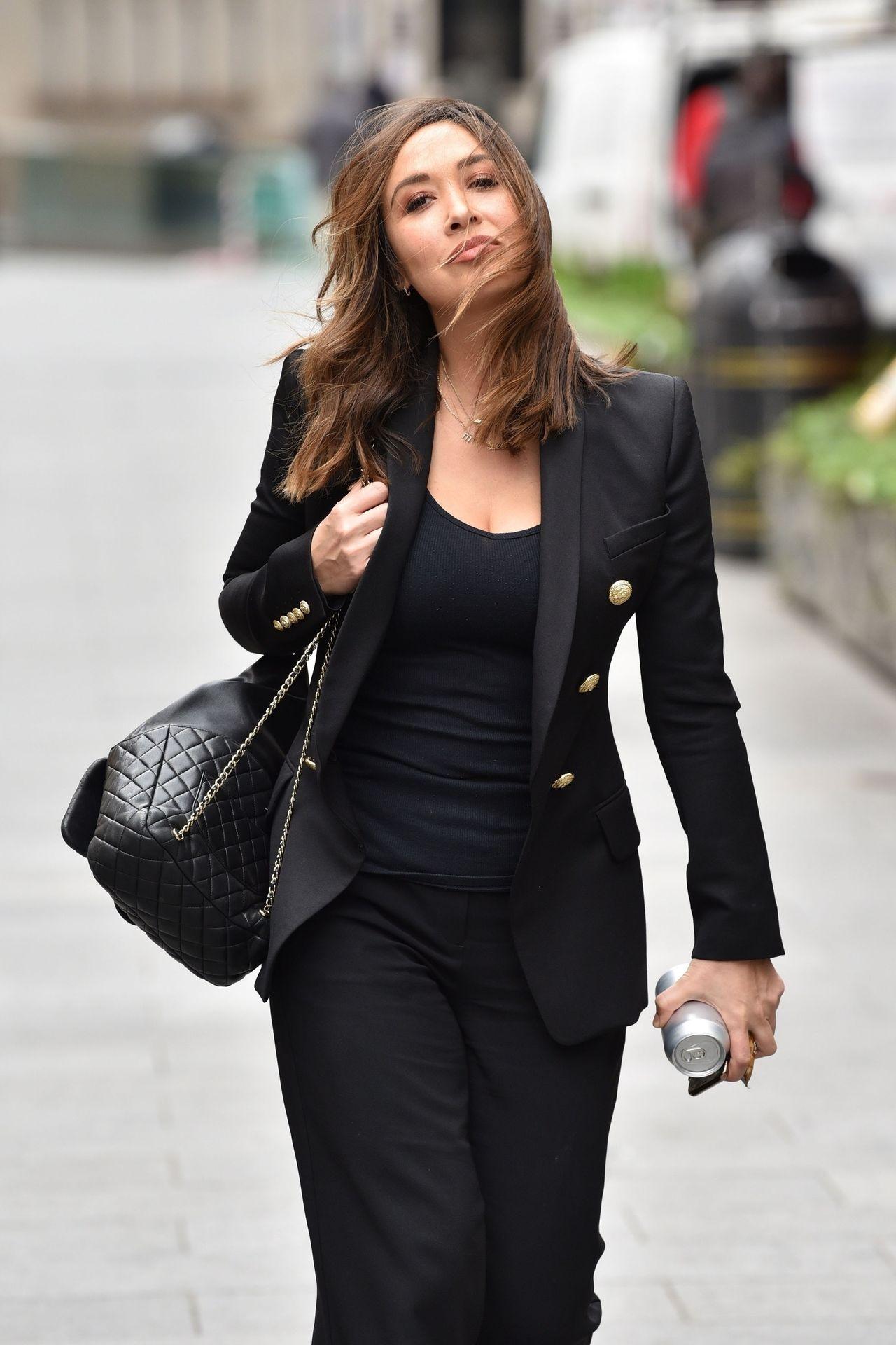 Myleene Klass Looks Hot In All Black In London 0012