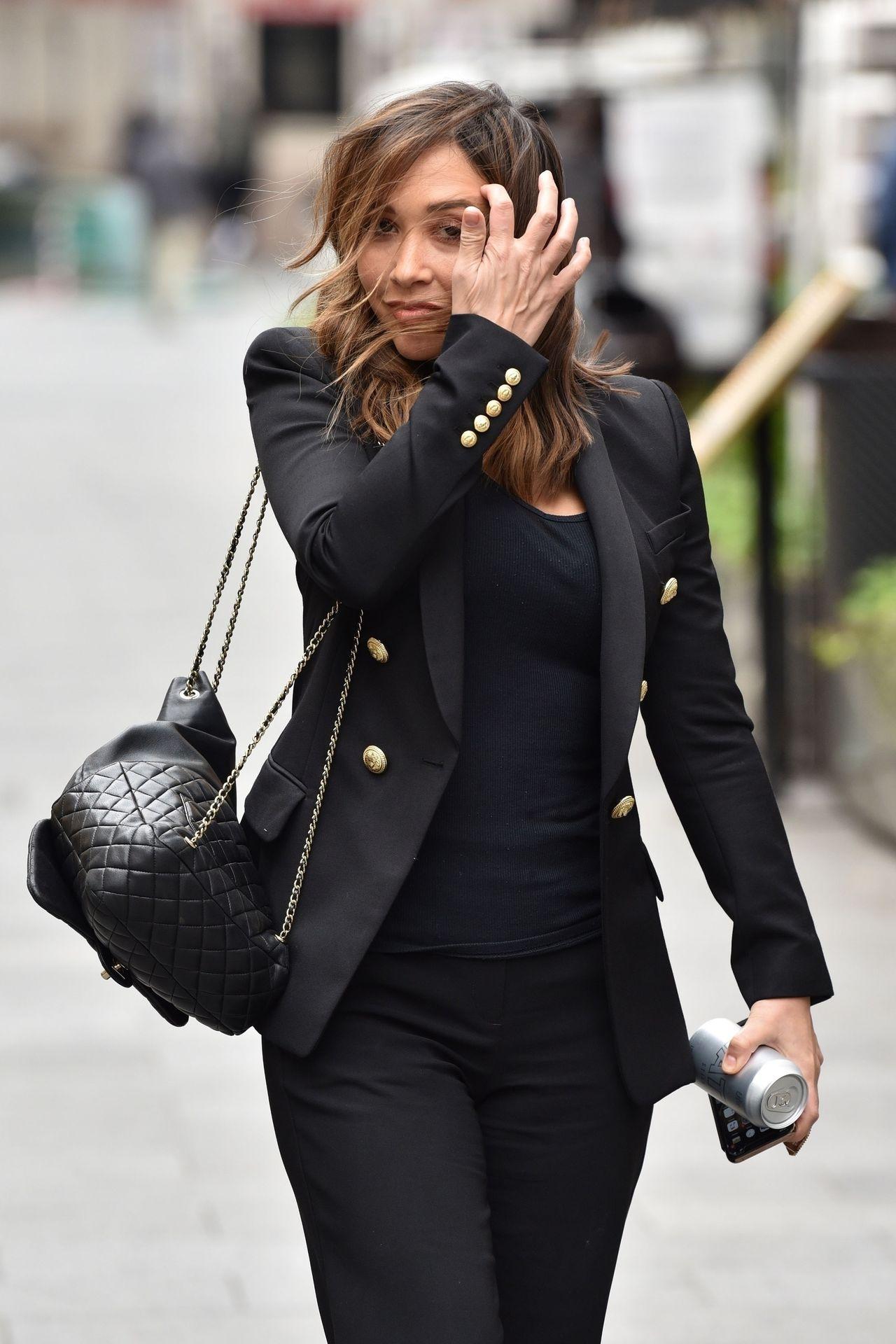 Myleene Klass Looks Hot In All Black In London 0013