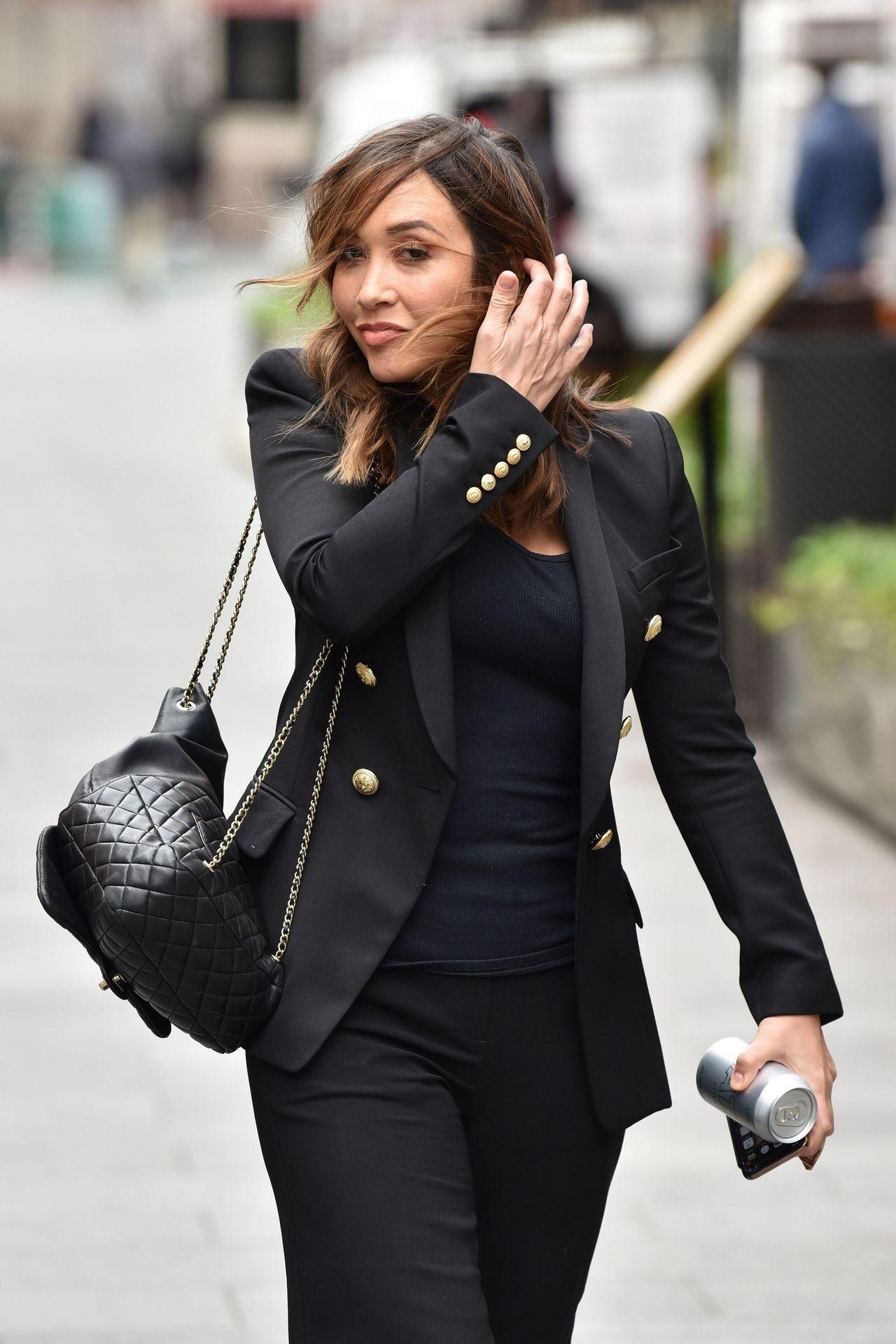Myleene Klass Looks Hot In All Black In London 0014