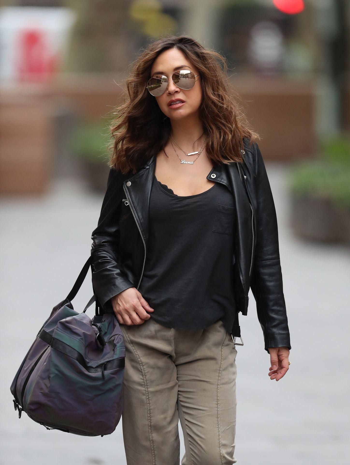 Myleene Klass Looks Hot In All Black In London 0015