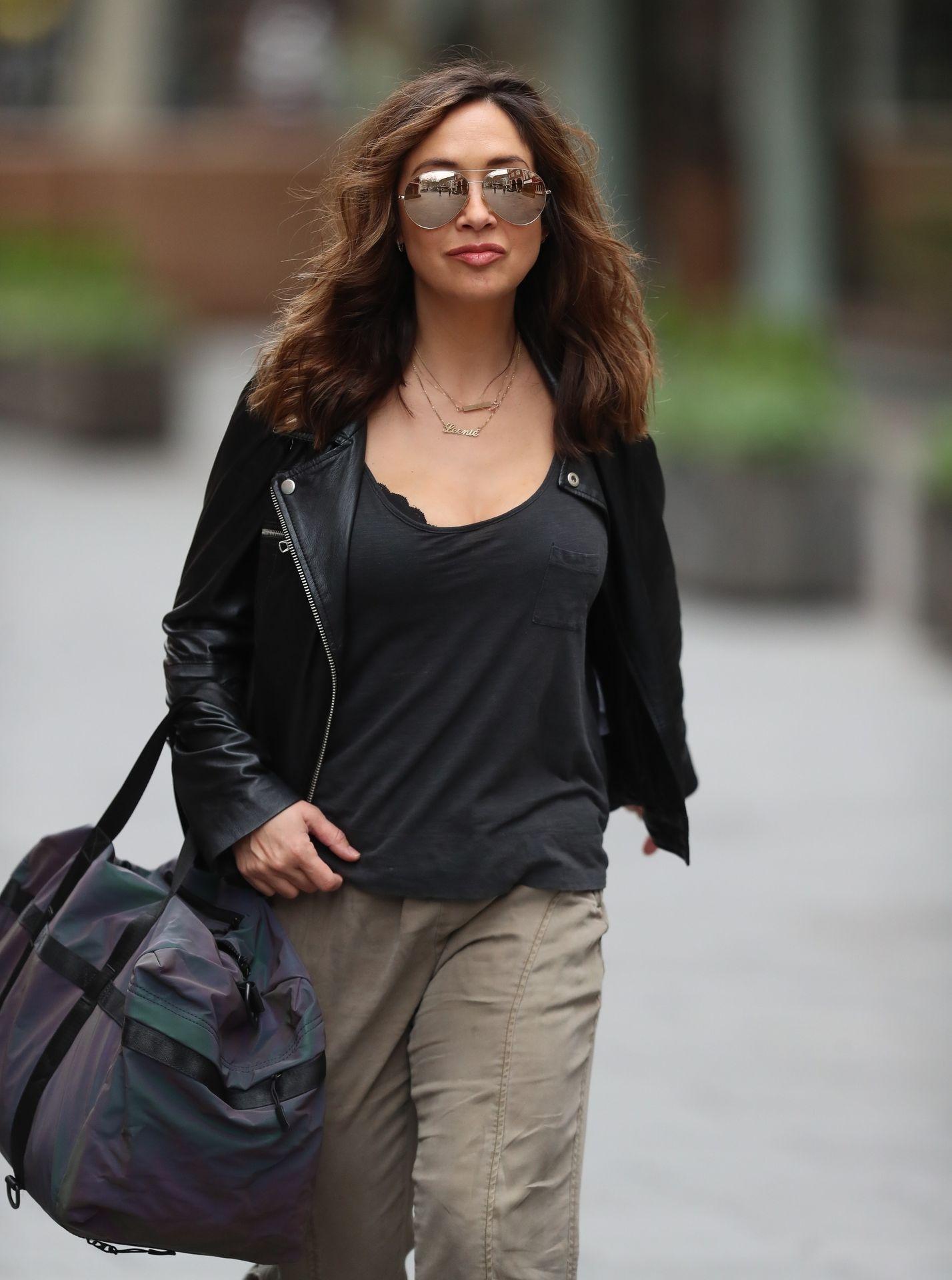 Myleene Klass Looks Hot In All Black In London 0018