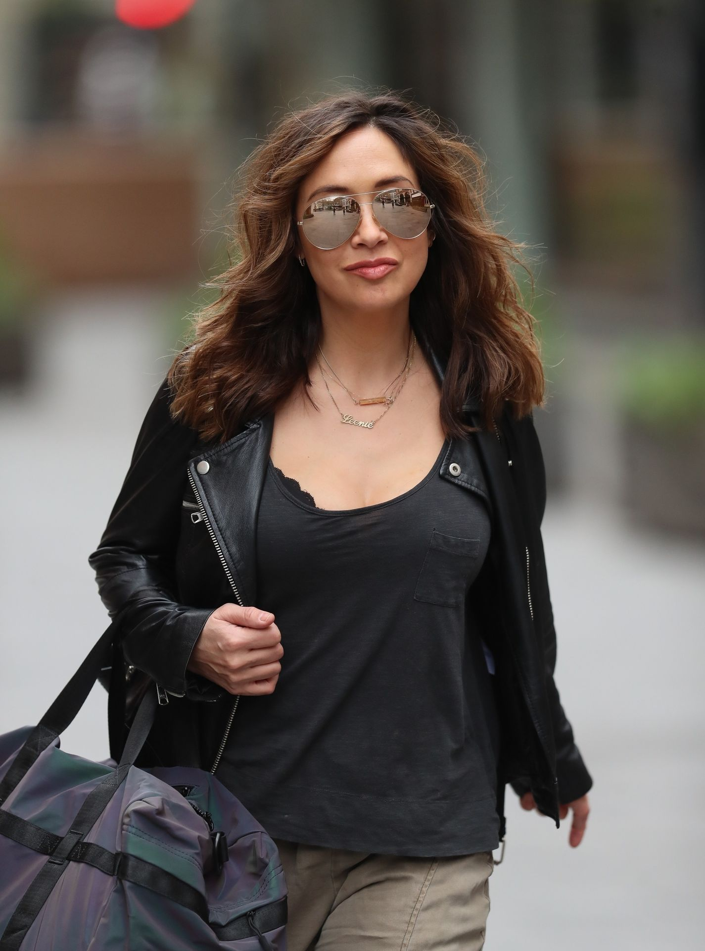 Myleene Klass Looks Hot In All Black In London 0021