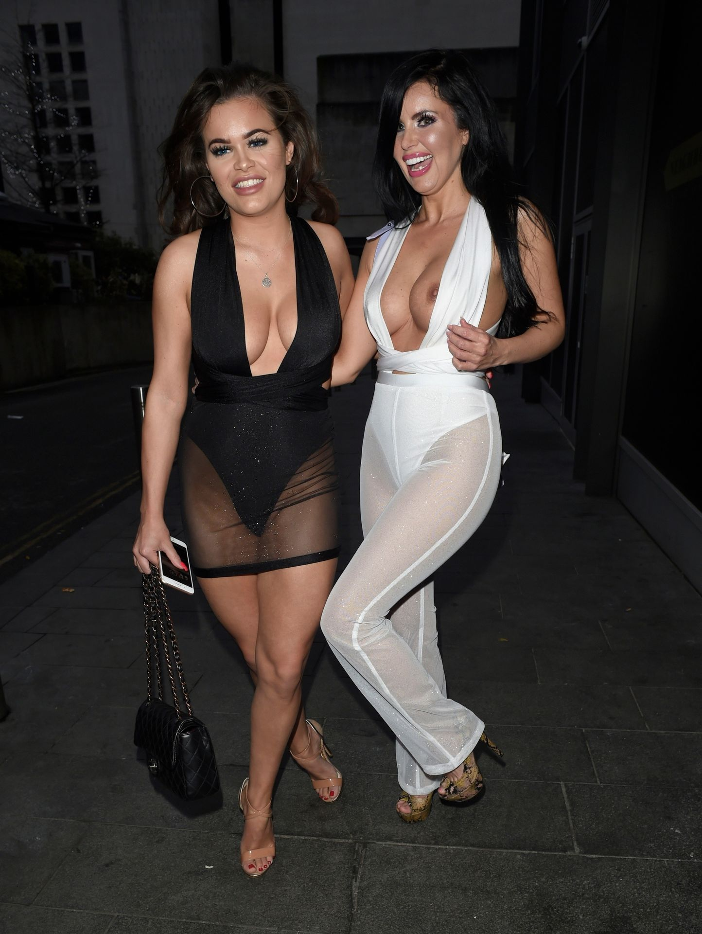 Rhianne Saxby & Sarah Longbottom Look Hot In Manchester 0007