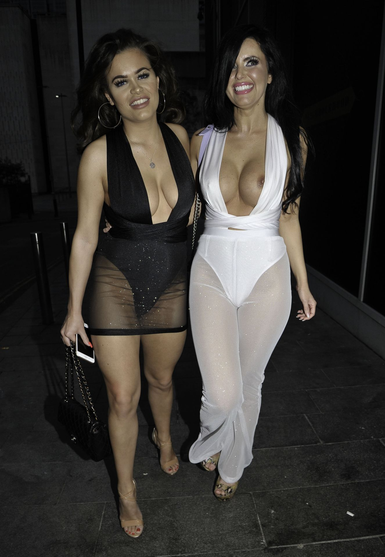 Rhianne Saxby & Sarah Longbottom Look Hot In Manchester 0014