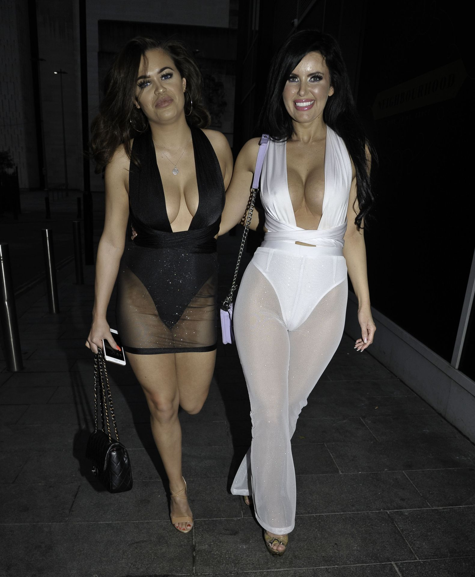 Rhianne Saxby & Sarah Longbottom Look Hot In Manchester 0015