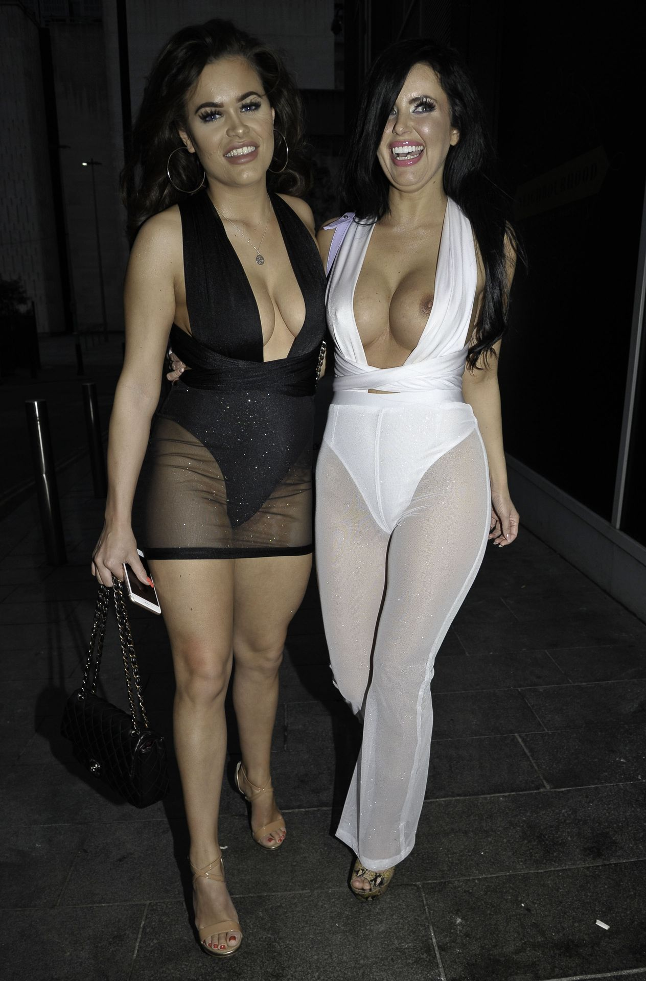 Rhianne Saxby & Sarah Longbottom Look Hot In Manchester 0016