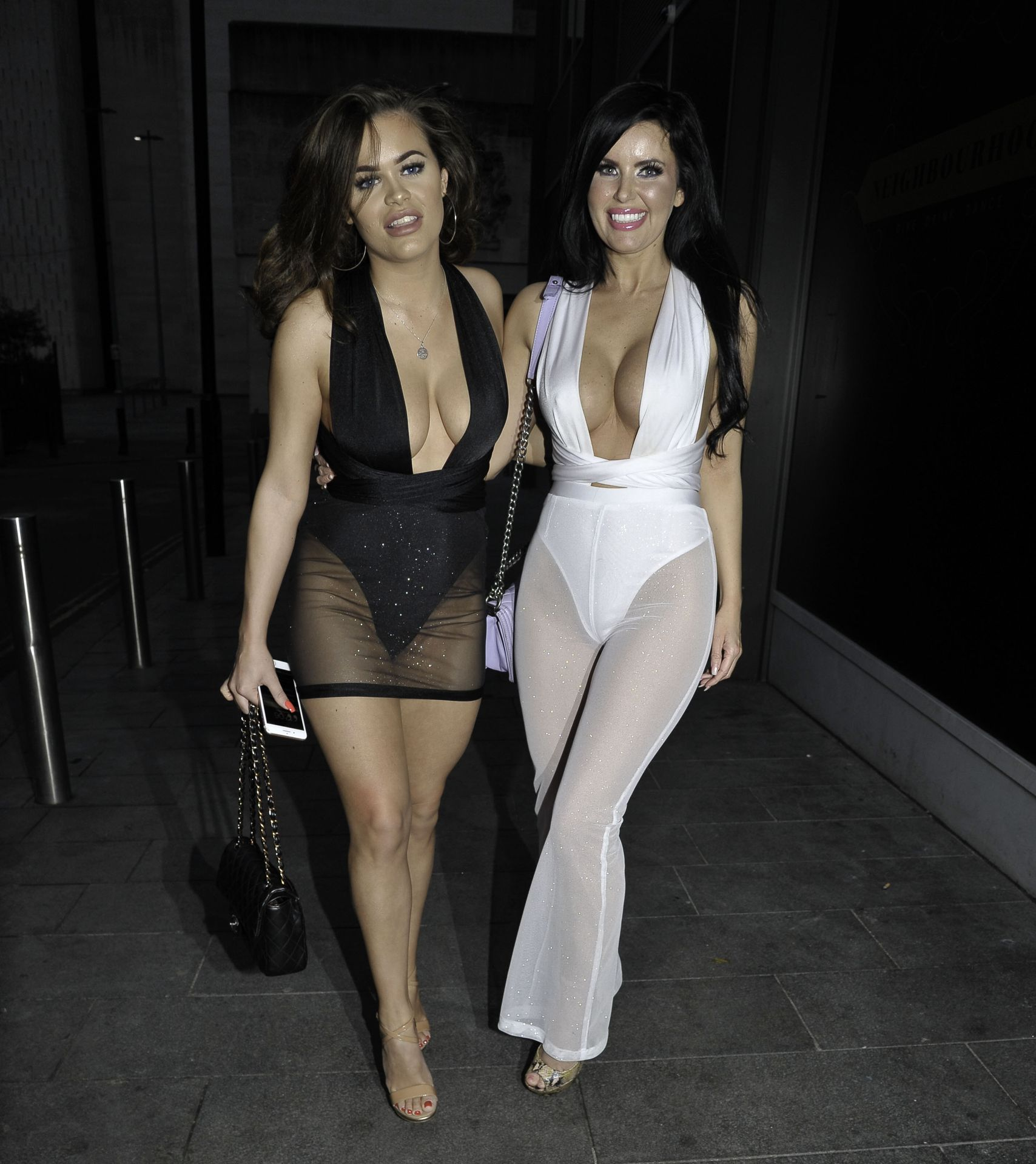 Rhianne Saxby & Sarah Longbottom Look Hot In Manchester 0017