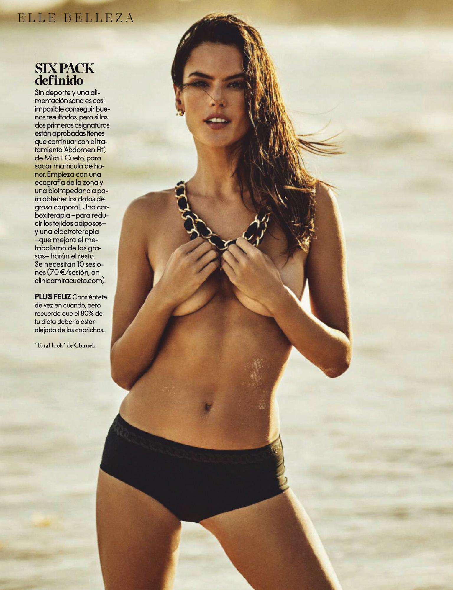 Alessandra Ambrosio – Beautiful Boobs In Sexy Photoshoot For Elle Spain Magazine (june 2020) 0011