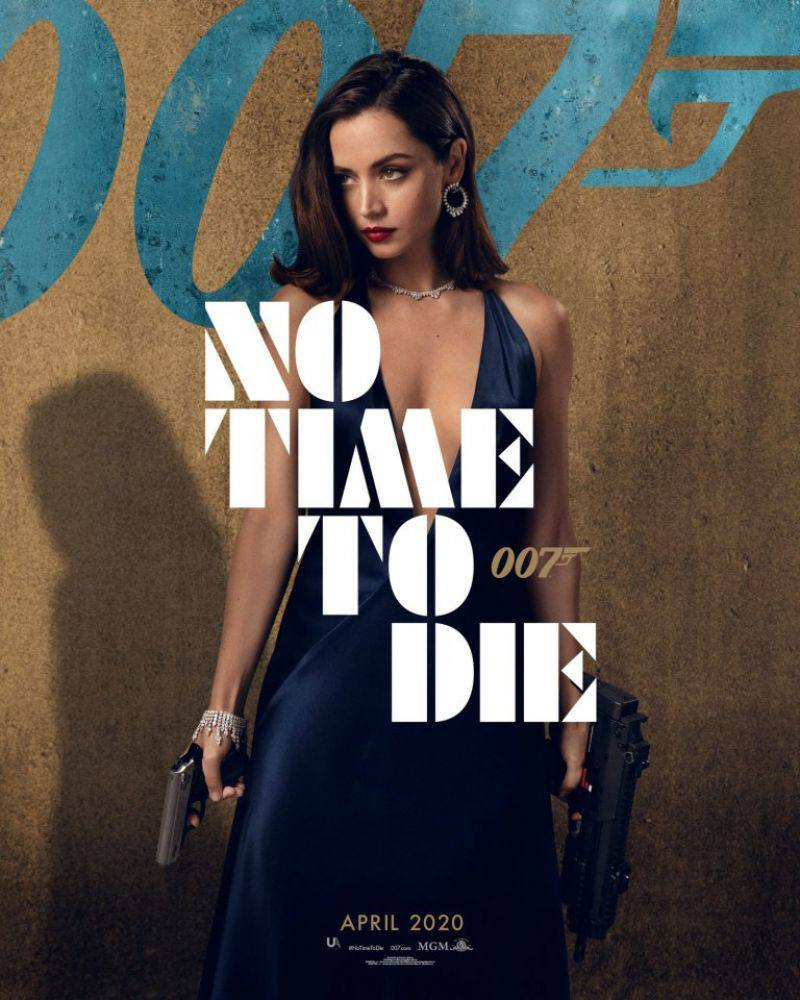 """Ana De Armas – Gorgeous In Black Dress For """"no Time To Die"""" Movie Promo 0002"""
