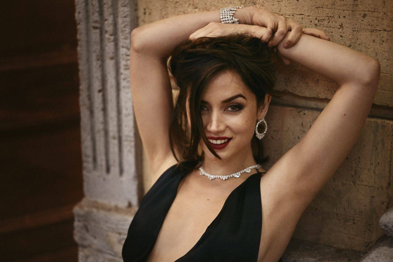 """Ana De Armas – Gorgeous In Black Dress For """"no Time To Die"""" Movie Promo 0009"""