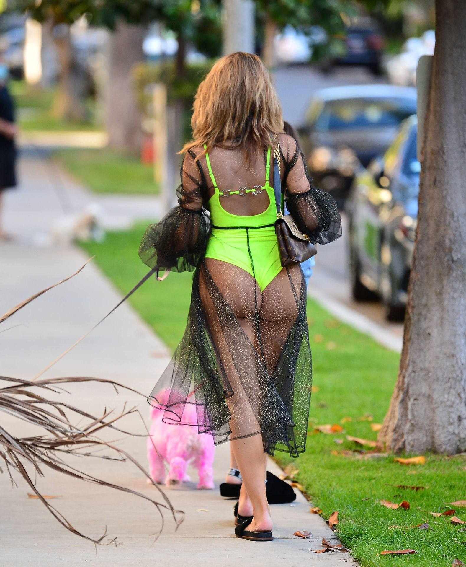 Farrah Abraham – Sexy Big Ass In Neon Green Swimsuit Out In Los Angeles 0006