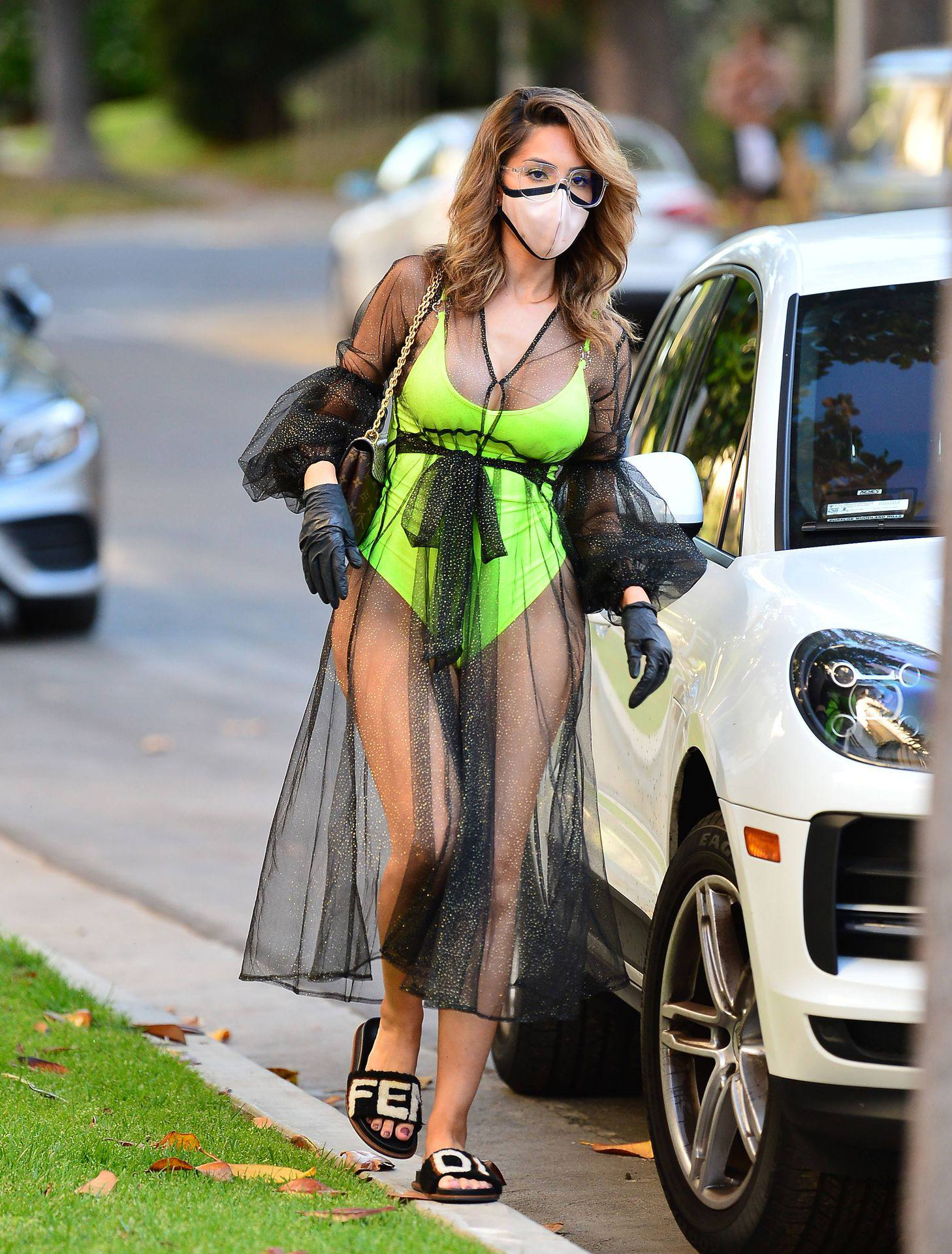 Farrah Abraham – Sexy Big Ass In Neon Green Swimsuit Out In Los Angeles 0015