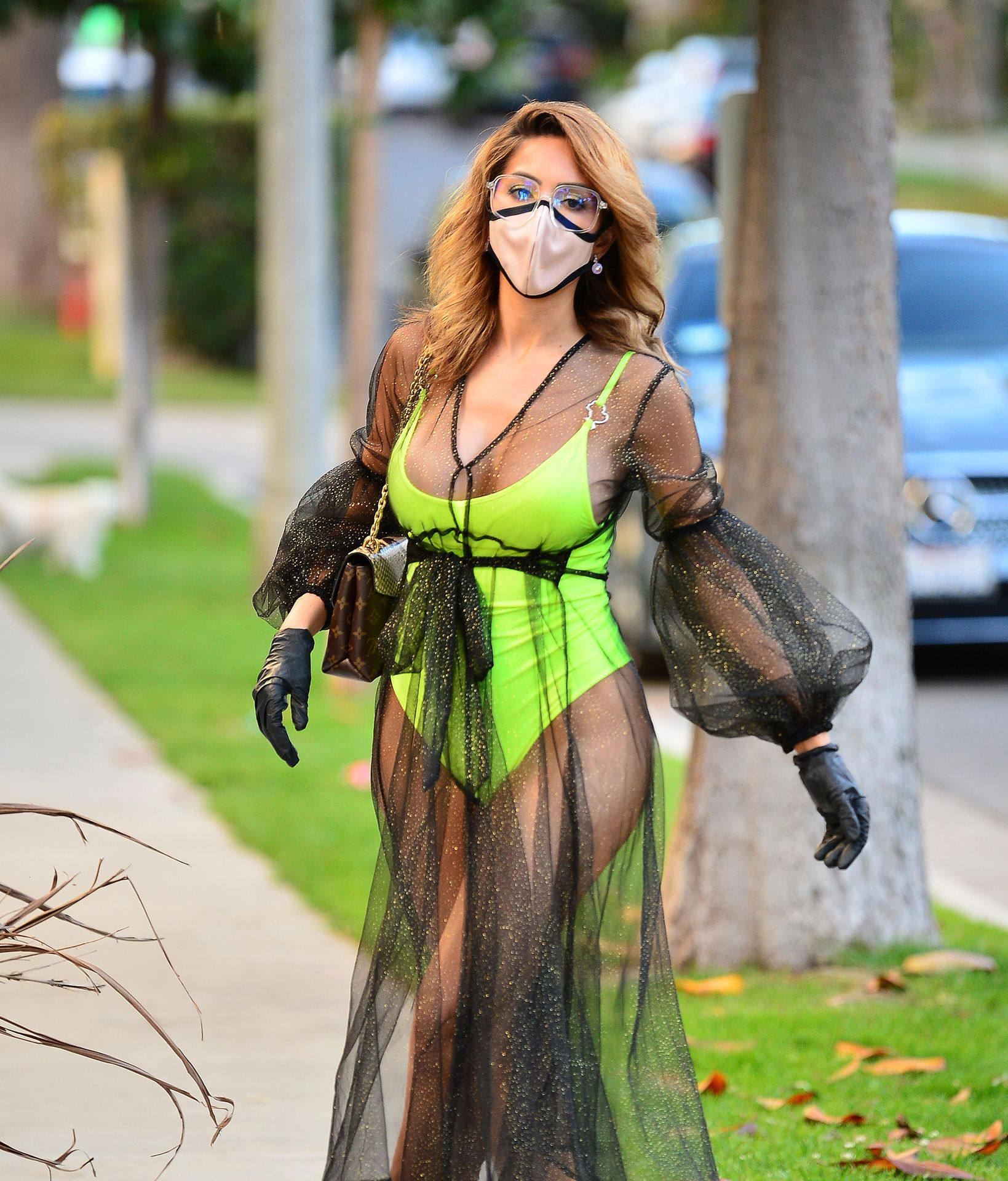 Farrah Abraham – Sexy Big Ass In Neon Green Swimsuit Out In Los Angeles 0016