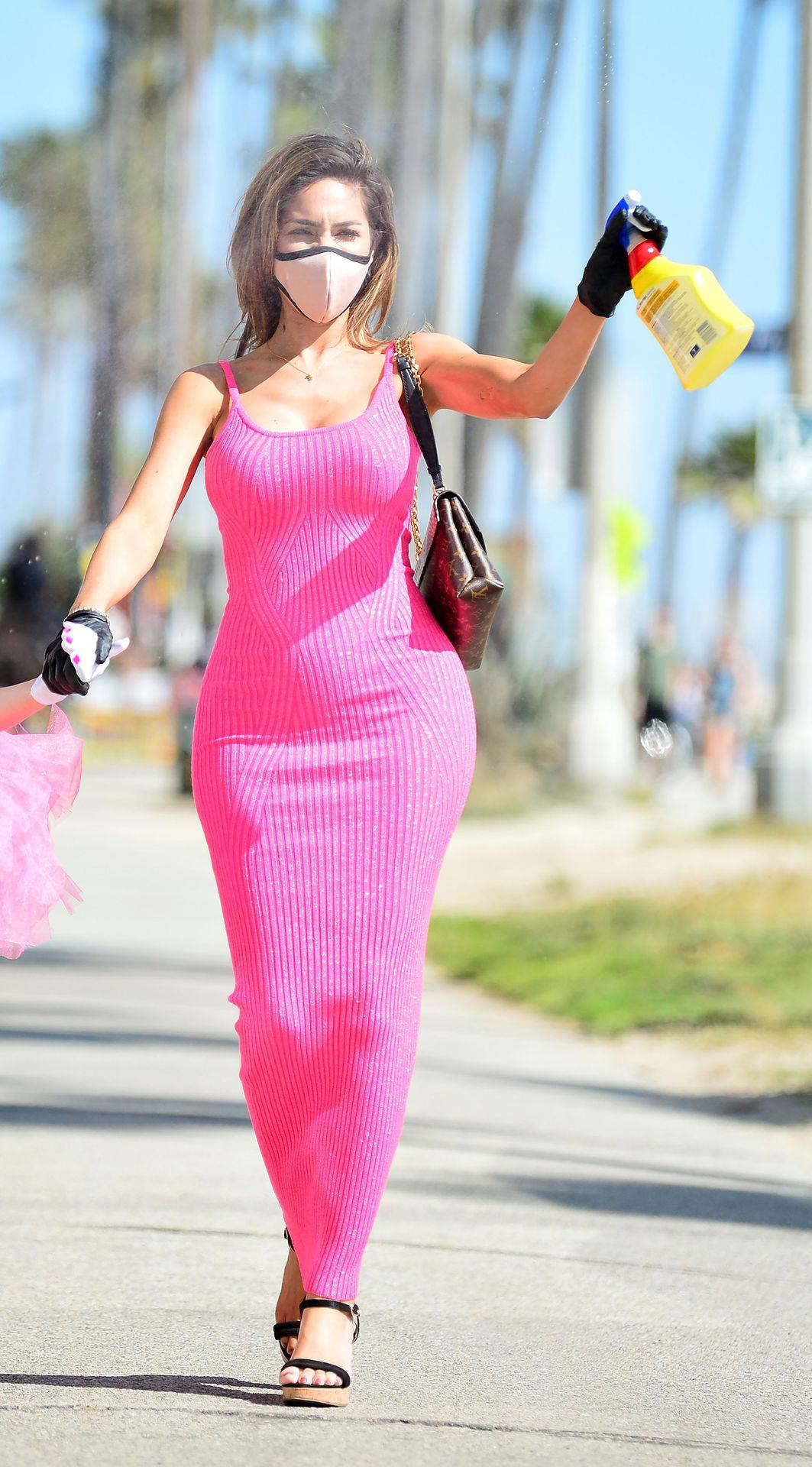 Farrah Abraham – Sexy Curvy Body In A Pink Dress Out In Los Angeles 0019