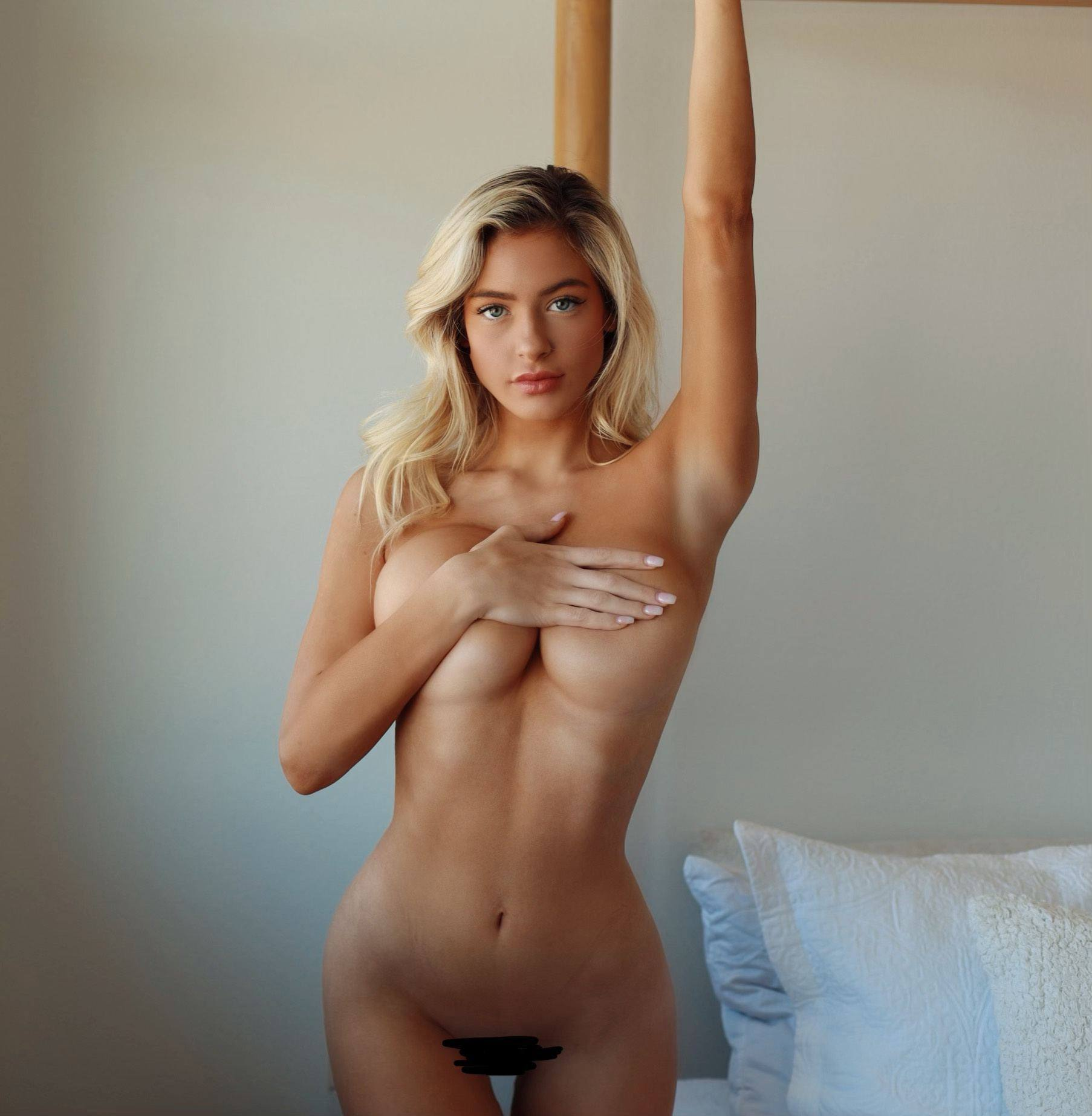 Hannah Palmer – Beautiful Body In Full Frontal Naked Photoshoot (censored) (nsfw) 0008