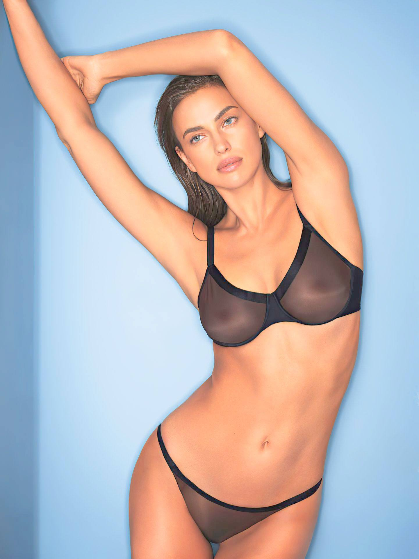 Irina Shayk – Sexy Boobs In Transparent Underwear For Intimissimi Photoshoot (may 2020) 0015