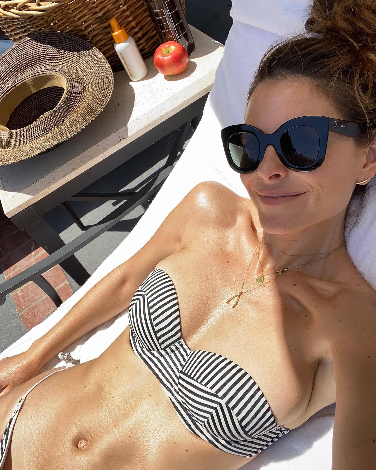 Maria Menounos Bikini Selfie