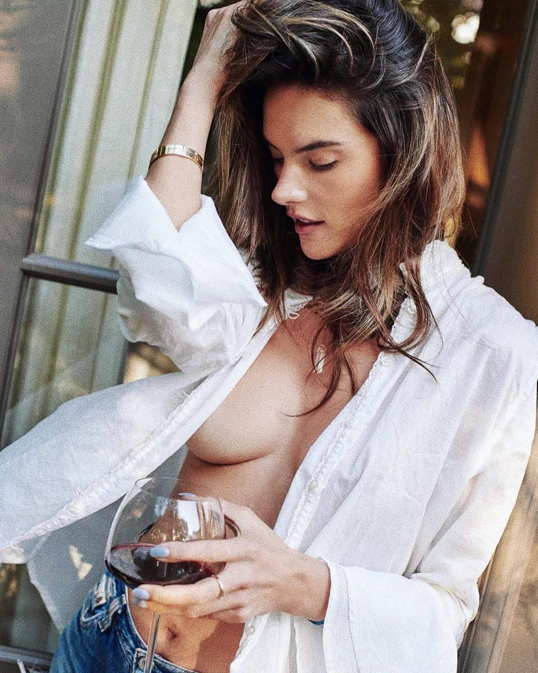 Alessandra Ambrosio – Sexy Sideboob In Hot Braless Photoshoot 0003
