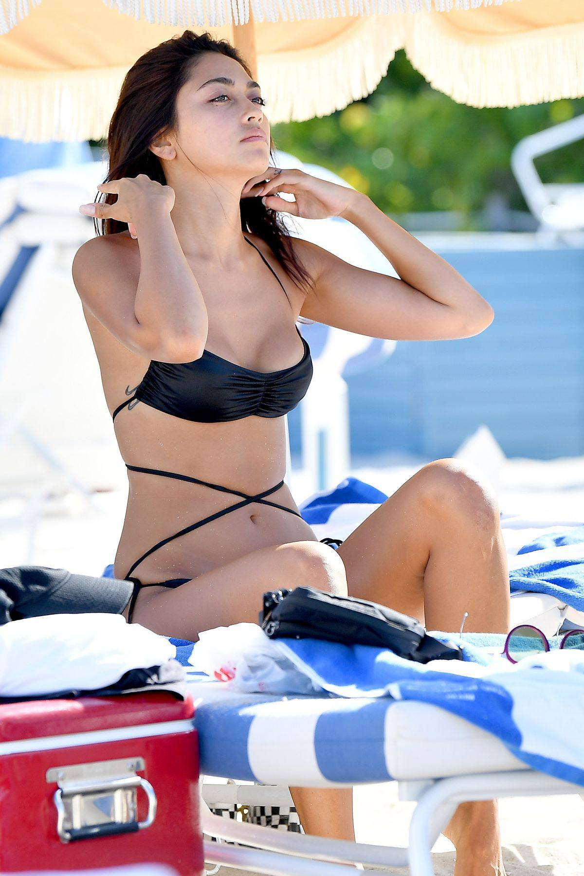 Ambra Gutierrez – Beautiful Body In Small Bikini At The Beach In Miami Beach 0019