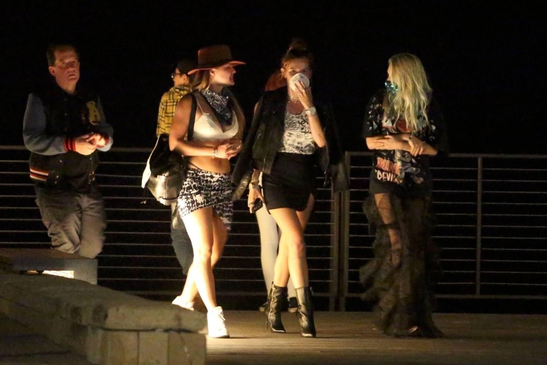 Bella & Dani Thorne – Sexy Legs In Mini Skirts At Nobu In Malibu 0005