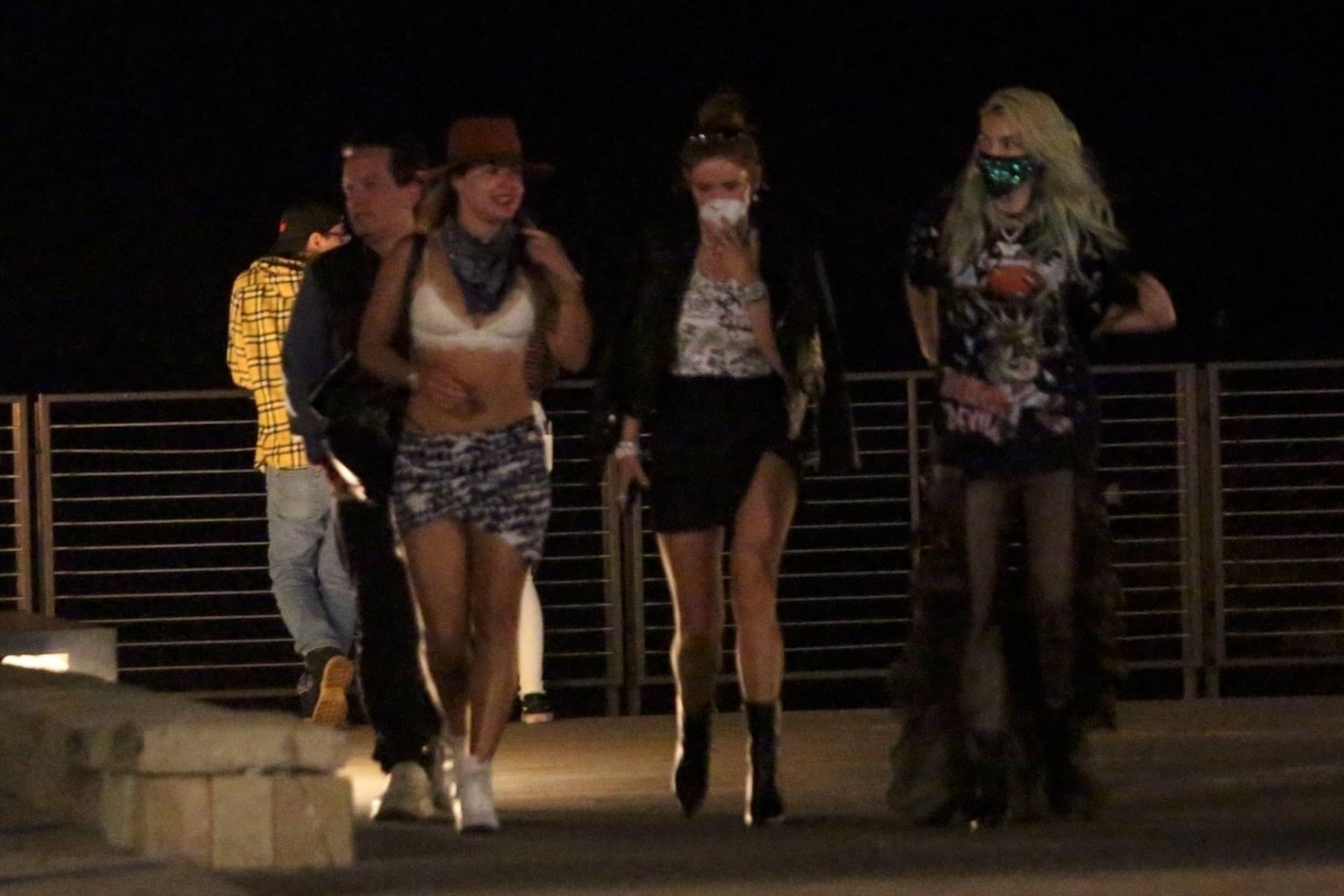 Bella & Dani Thorne – Sexy Legs In Mini Skirts At Nobu In Malibu 0009