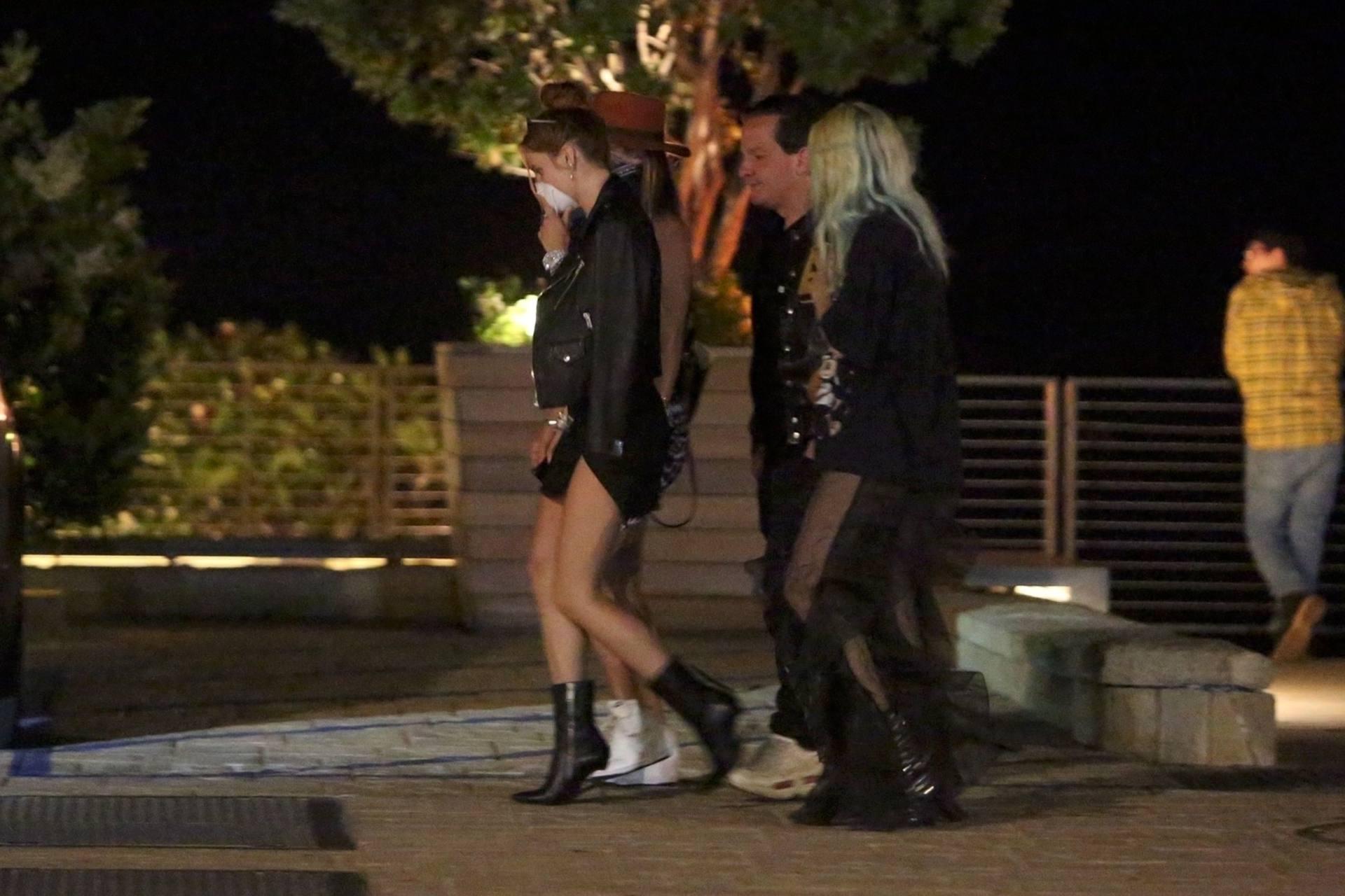 Bella & Dani Thorne – Sexy Legs In Mini Skirts At Nobu In Malibu 0011