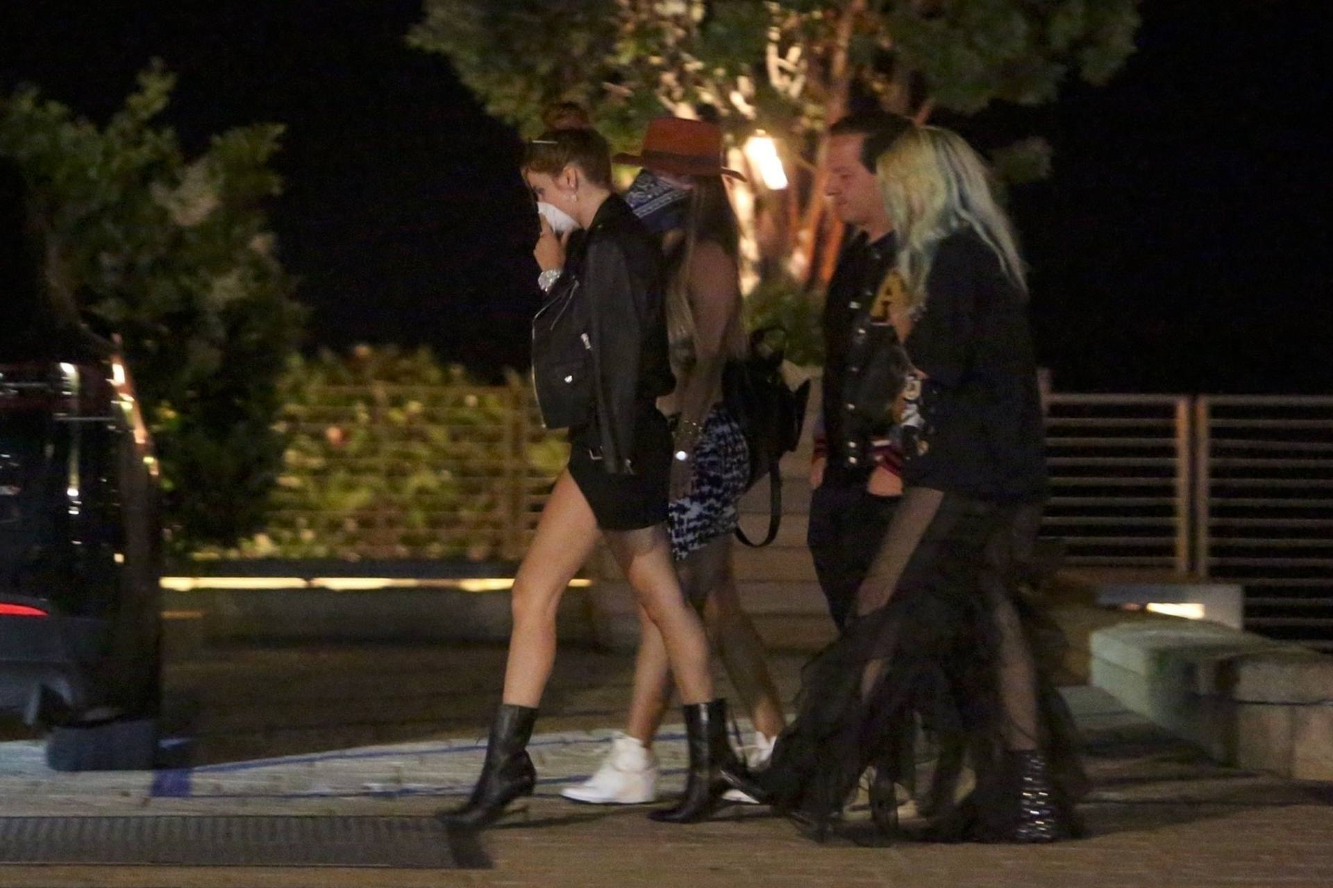 Bella & Dani Thorne – Sexy Legs In Mini Skirts At Nobu In Malibu 0012