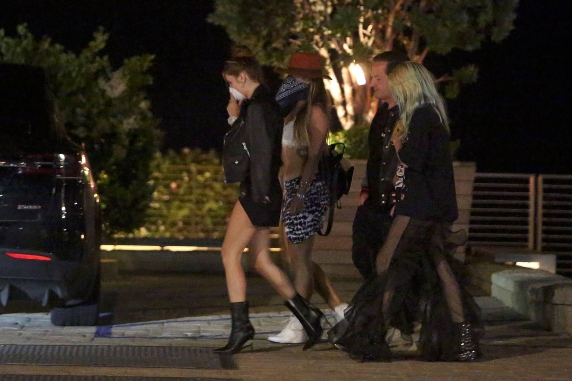 Bella & Dani Thorne – Sexy Legs In Mini Skirts At Nobu In Malibu 0013